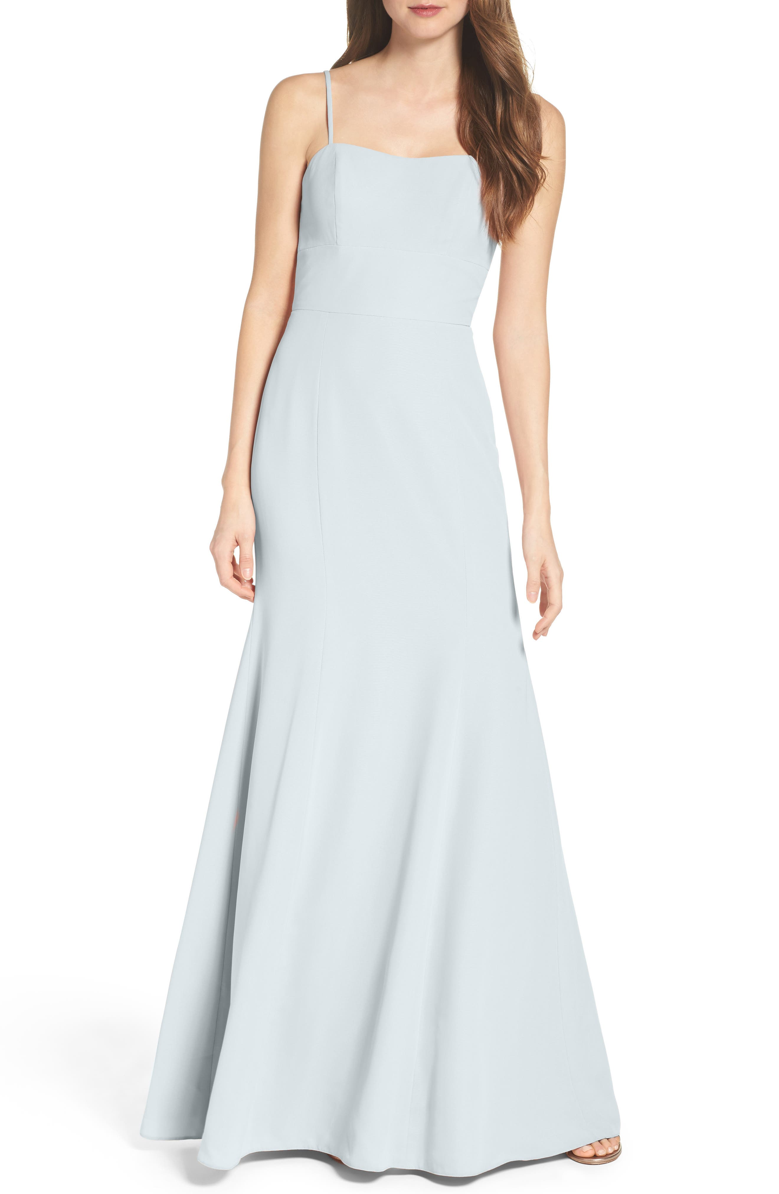 Convertible Strap Chiffon Gown,                             Alternate thumbnail 3, color,                             300