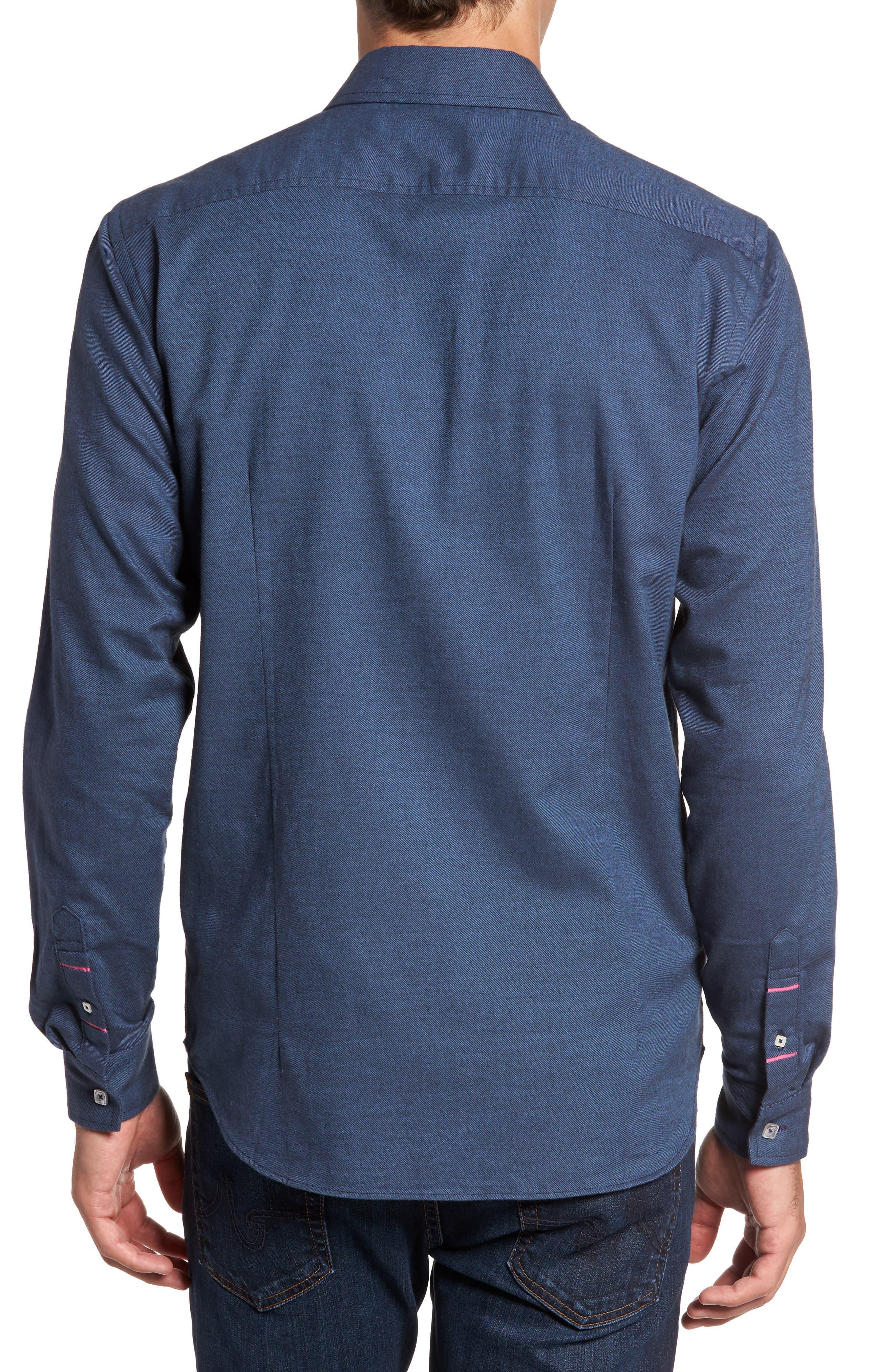 Slim Fit Solid Sport Shirt,                             Alternate thumbnail 2, color,