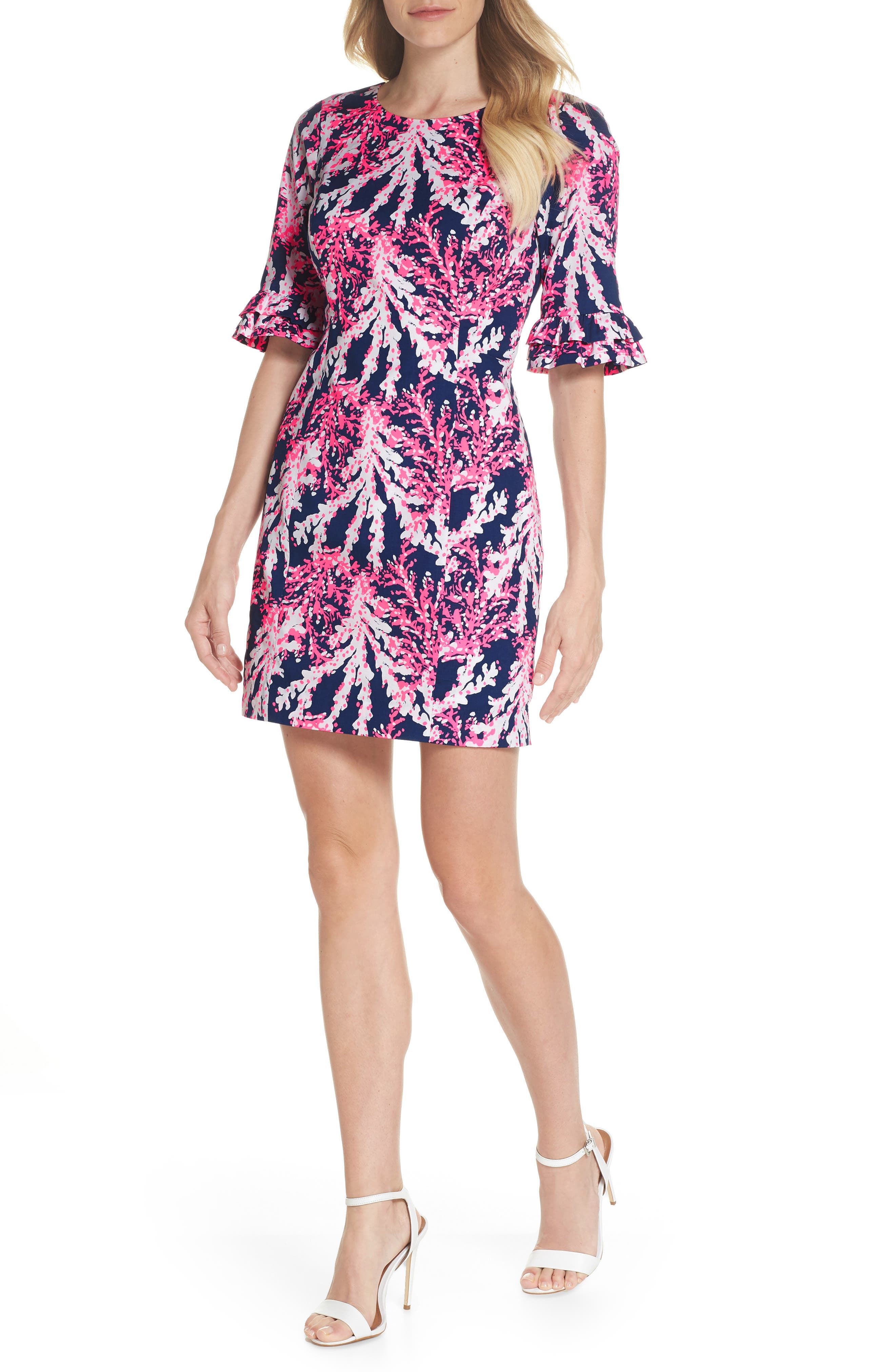 LILLY PULITZER<SUP>®</SUP>,                             Fiesta Stretch Sheath Dress,                             Main thumbnail 1, color,                             475