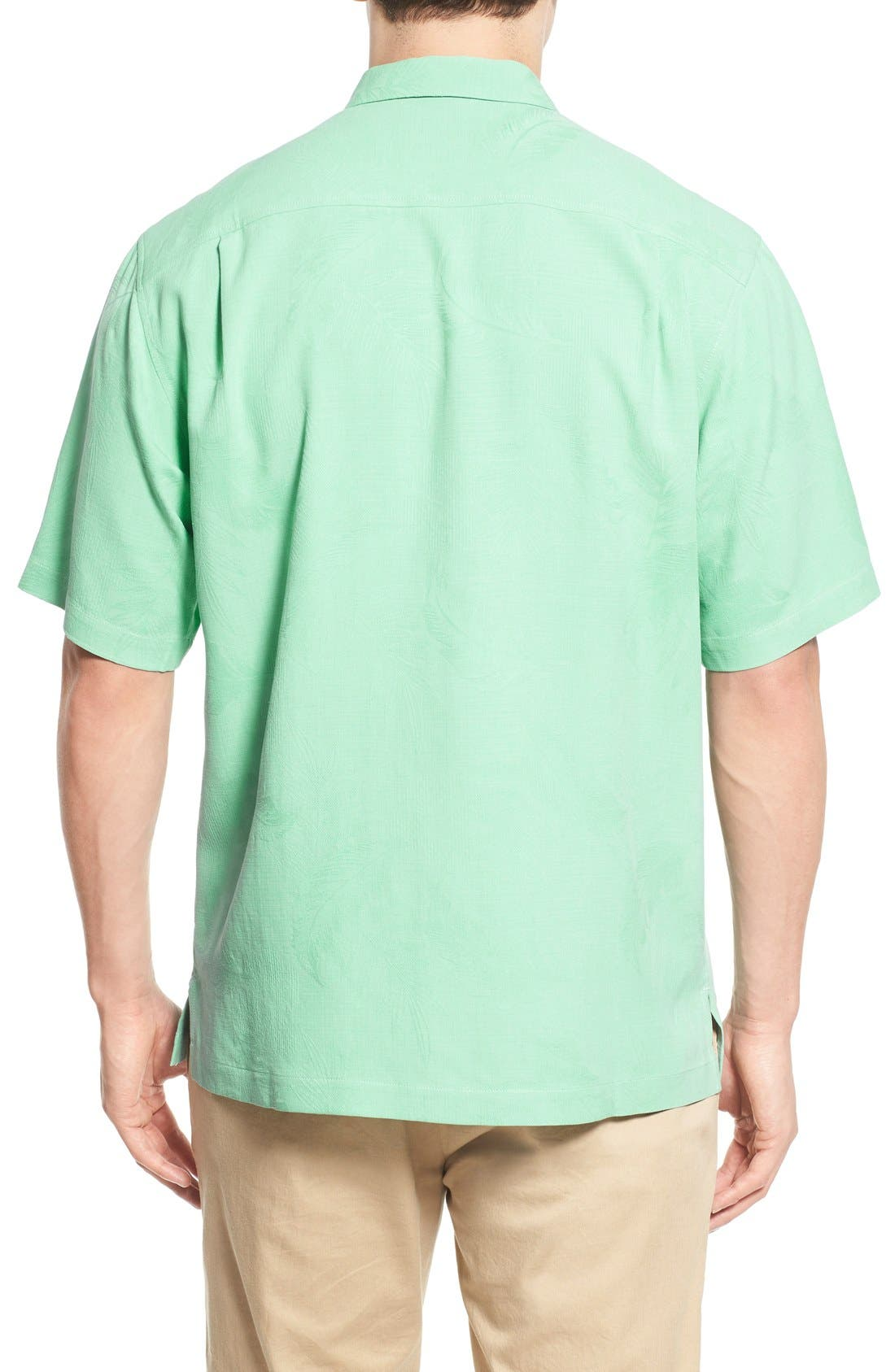 Rio Fronds Short Sleeve Silk Sport Shirt,                             Alternate thumbnail 23, color,
