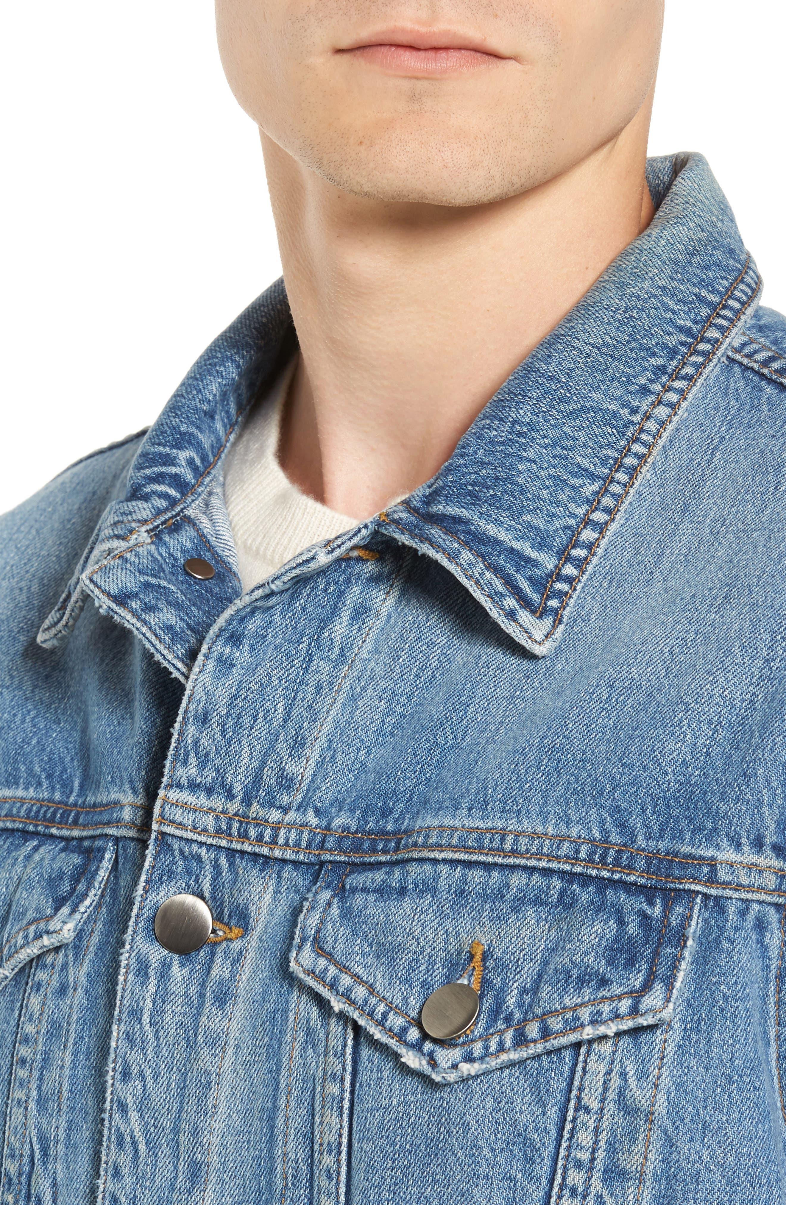 L'Homme Denim Jacket,                             Alternate thumbnail 4, color,                             450