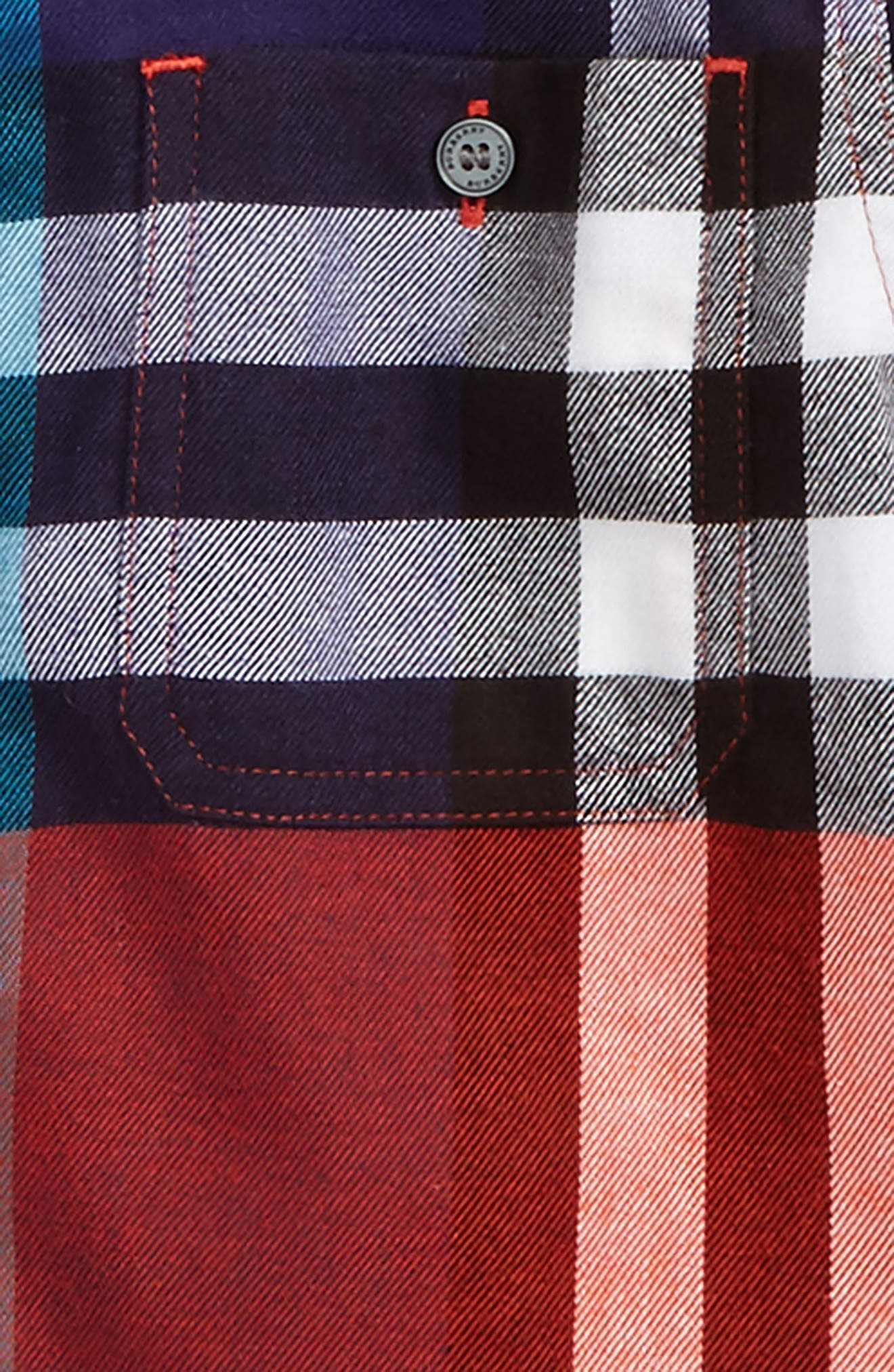 Mini Camber Check Shirt,                             Alternate thumbnail 2, color,                             800