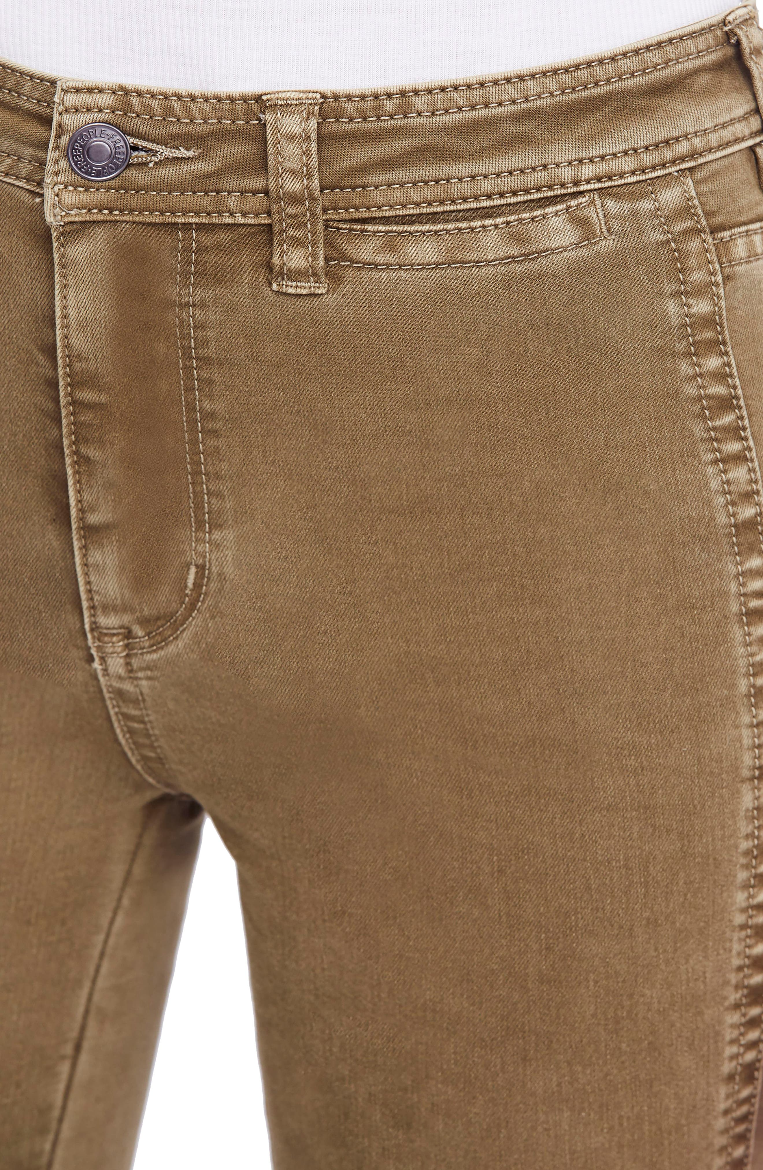 FREE PEOPLE,                             Brooke Flare Jeans,                             Alternate thumbnail 4, color,                             200