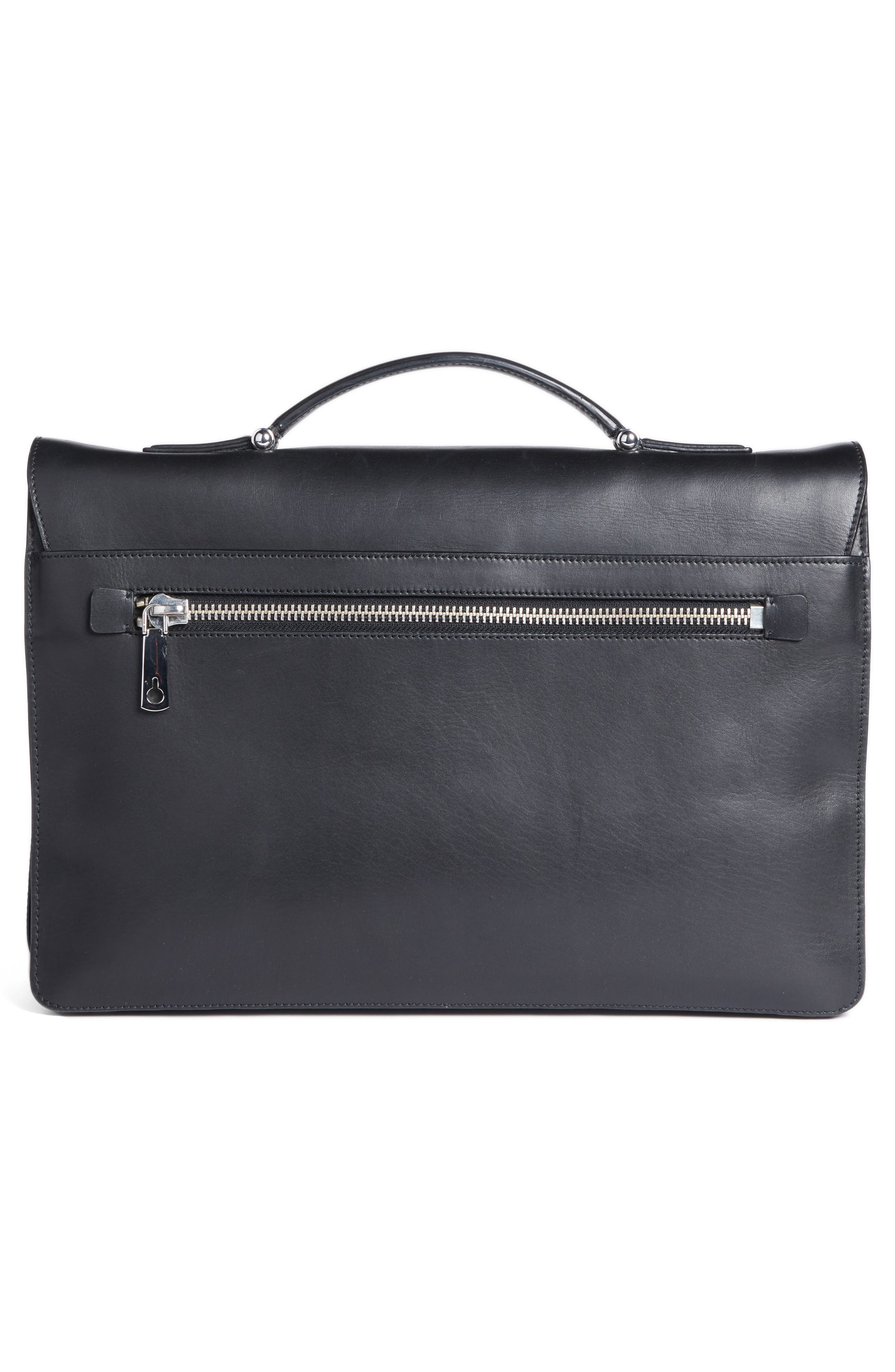 Leather Briefcase,                             Alternate thumbnail 3, color,                             001