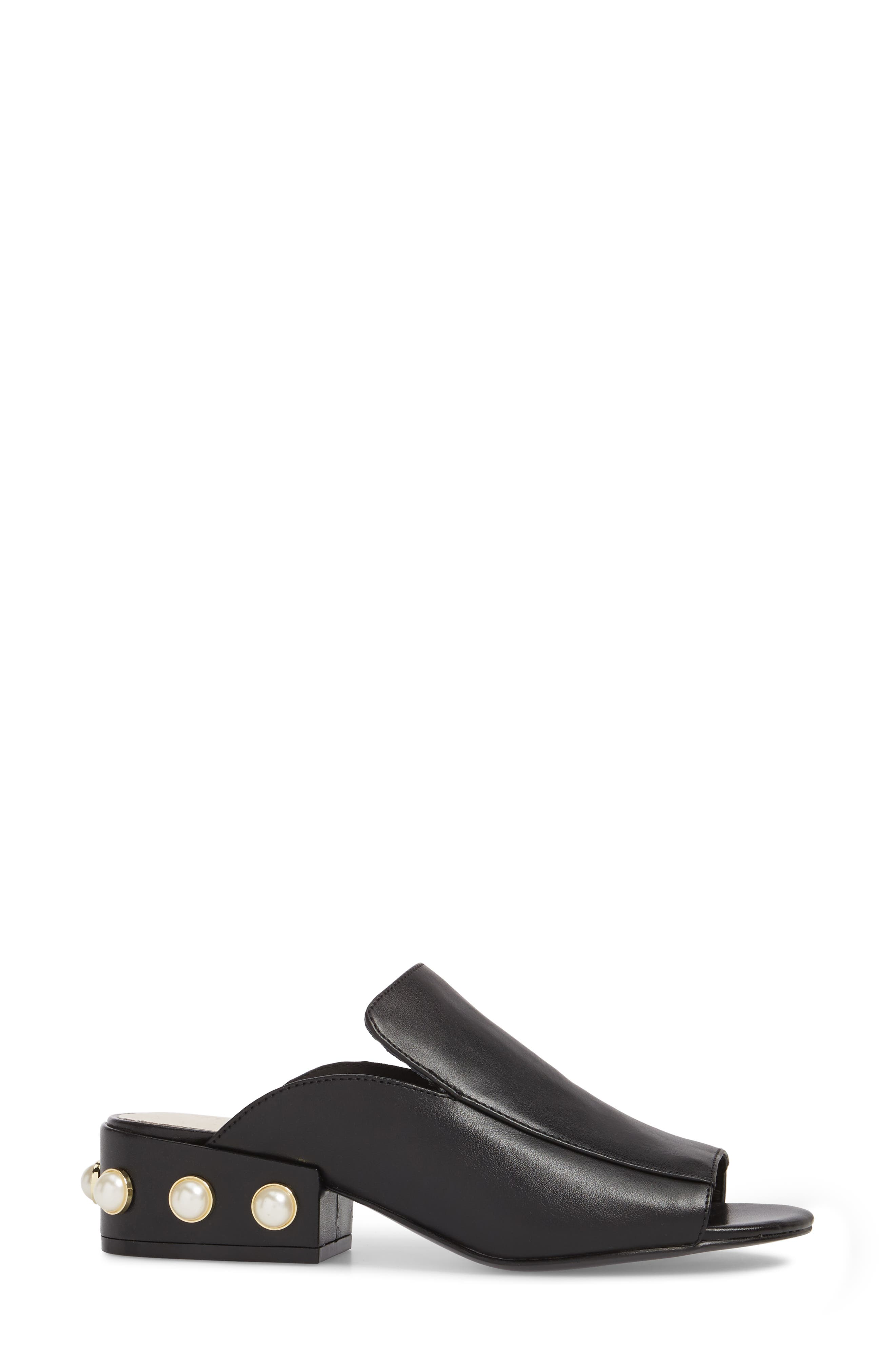 KENNETH COLE NEW YORK,                             Farley Embellished Mule,                             Alternate thumbnail 3, color,                             001