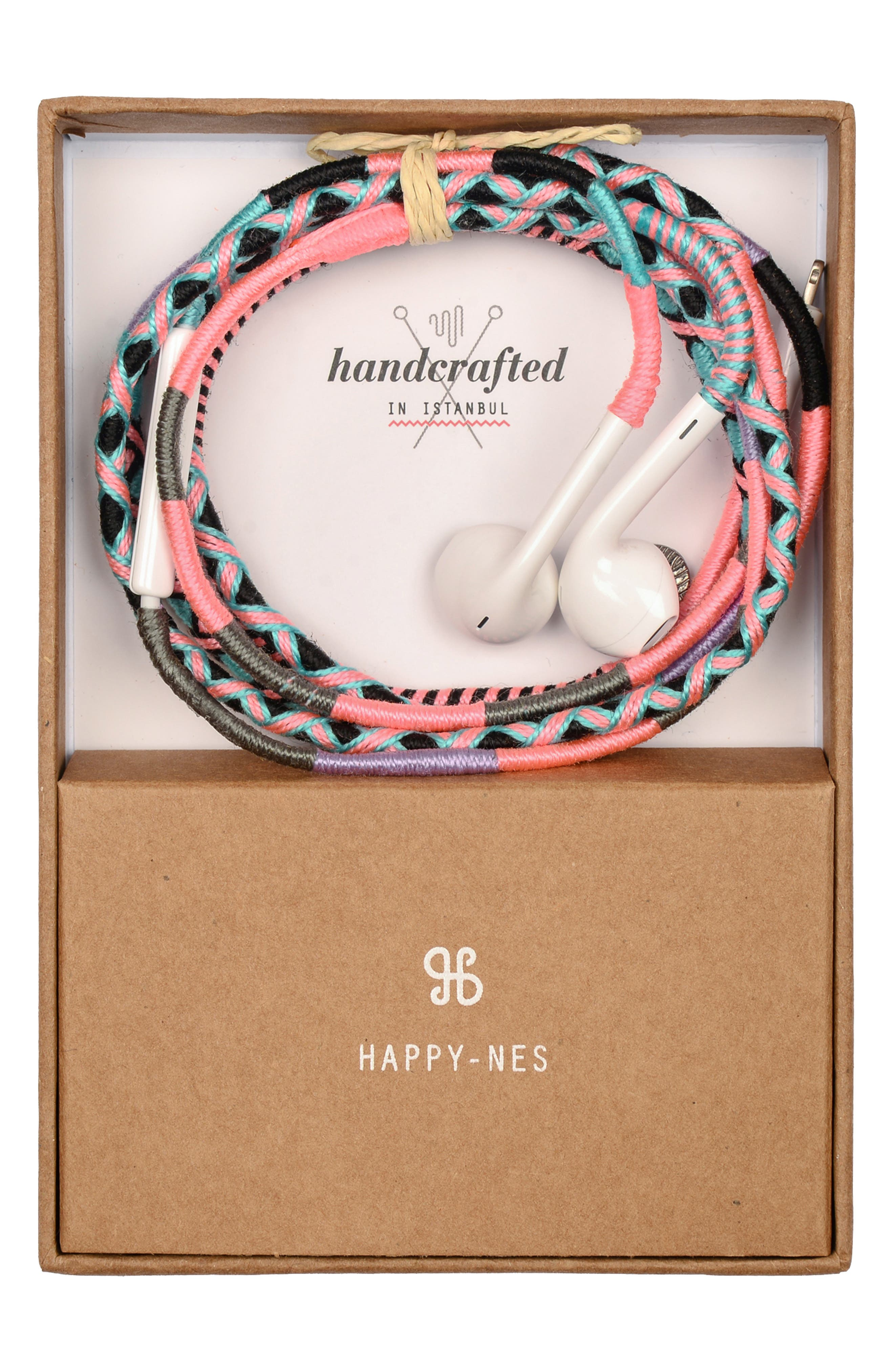 Soda Says x Happy-Nes Handwoven Apple Earbuds,                             Main thumbnail 1, color,                             960