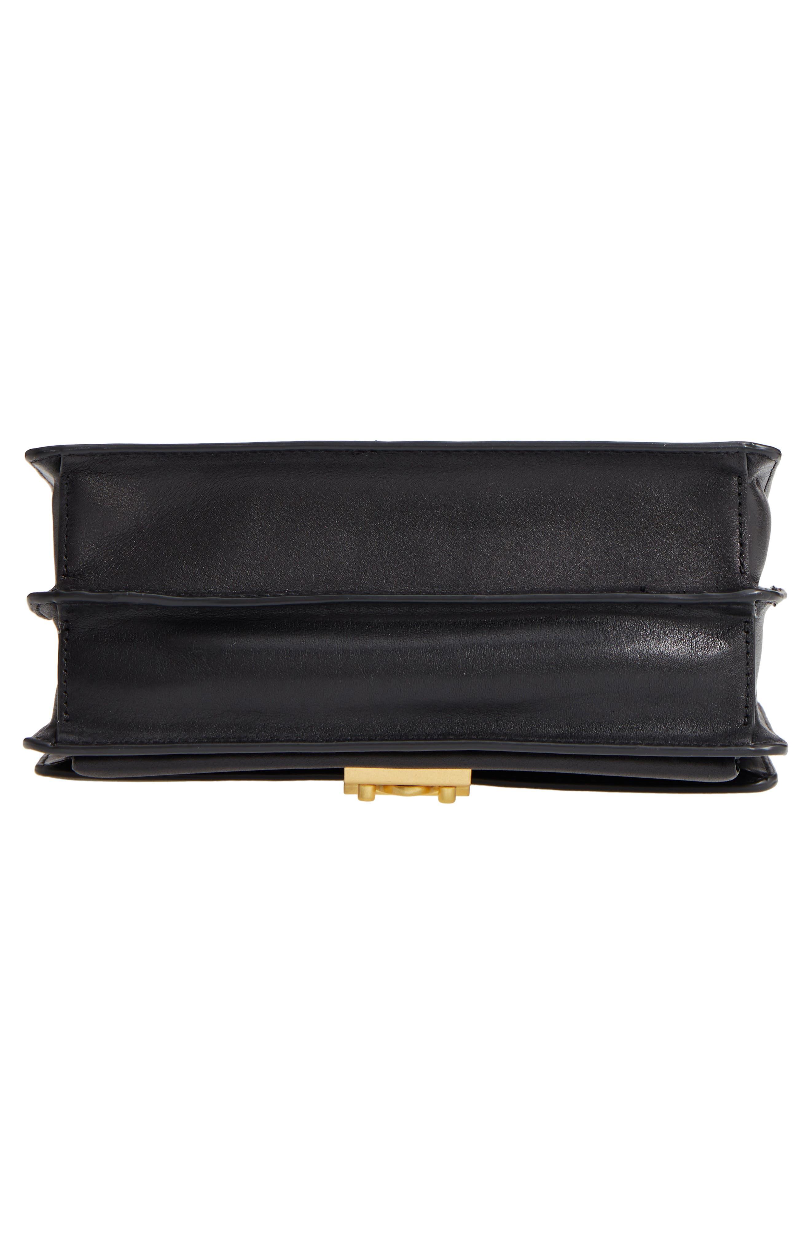 Medium Christy Leather Shoulder Bag,                             Alternate thumbnail 6, color,                             001