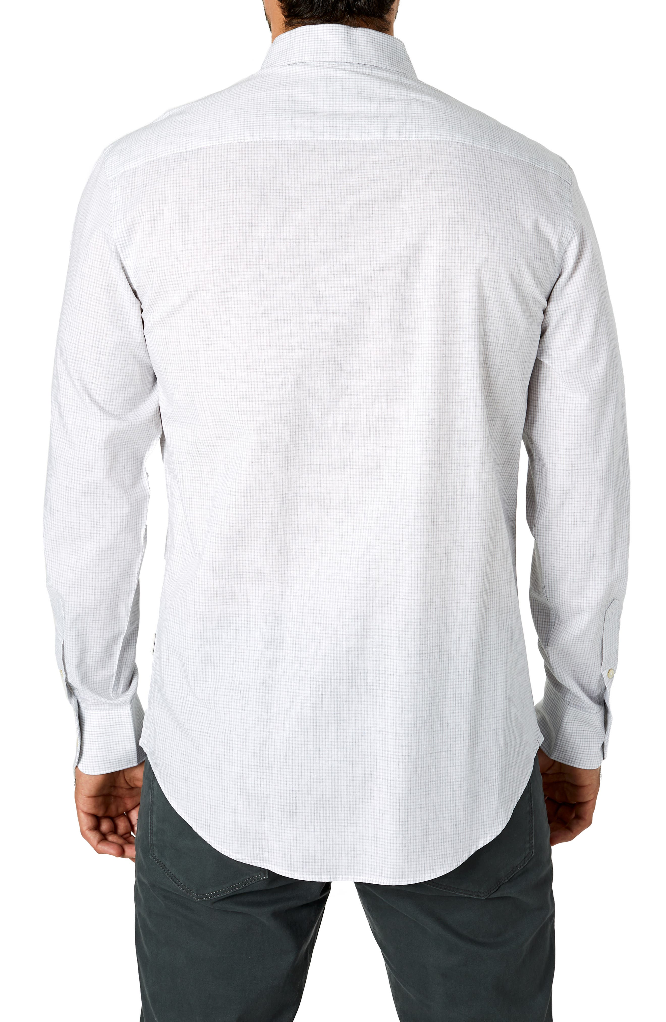 South London Trim Fit Check Sport Shirt,                             Alternate thumbnail 3, color,                             451
