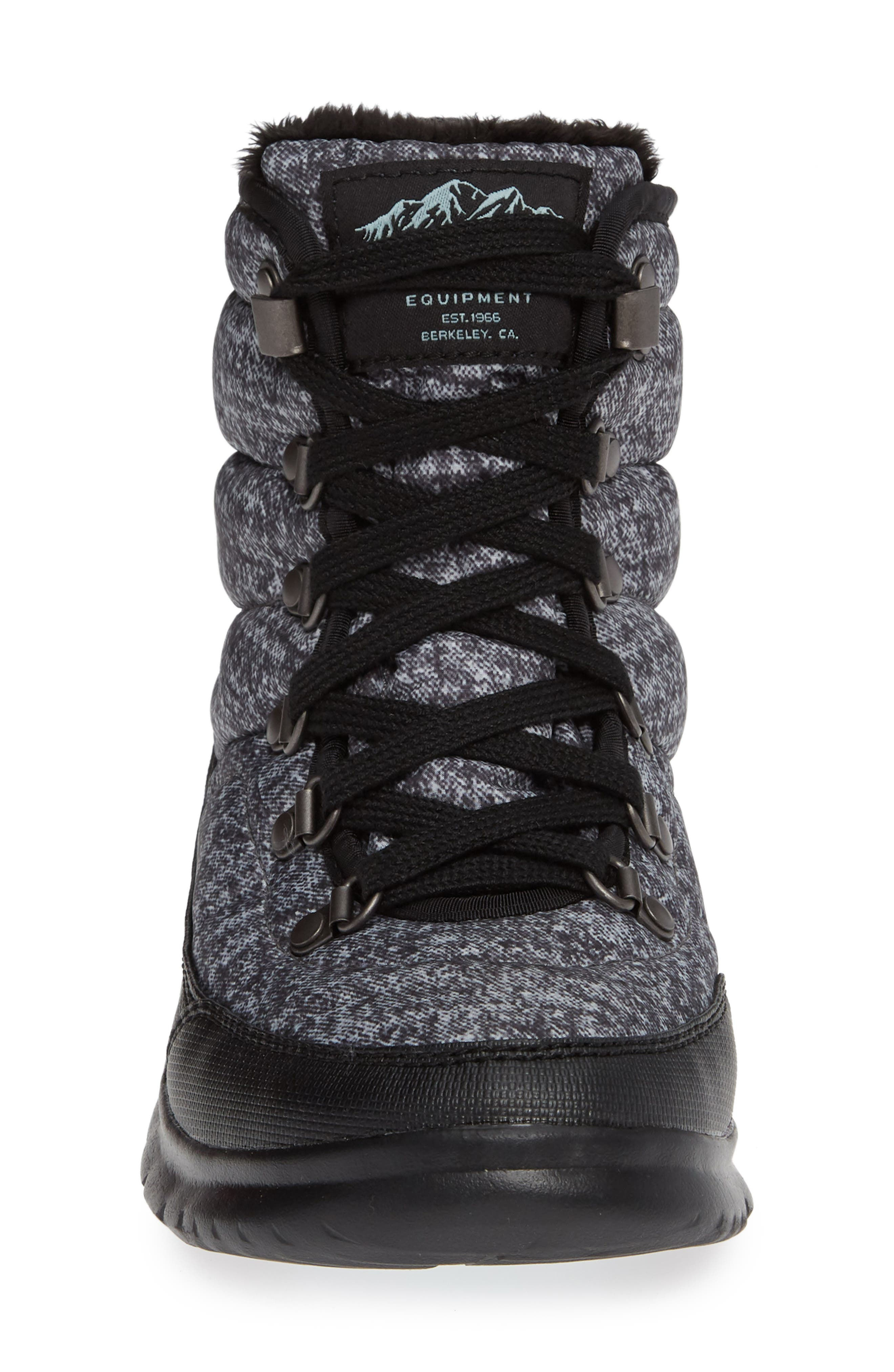 Lace II ThermoBall<sup>™</sup> Insulated Winter Boot,                             Alternate thumbnail 4, color,                             HOUNDS TOOTH PRINT/ BLUE HAZE