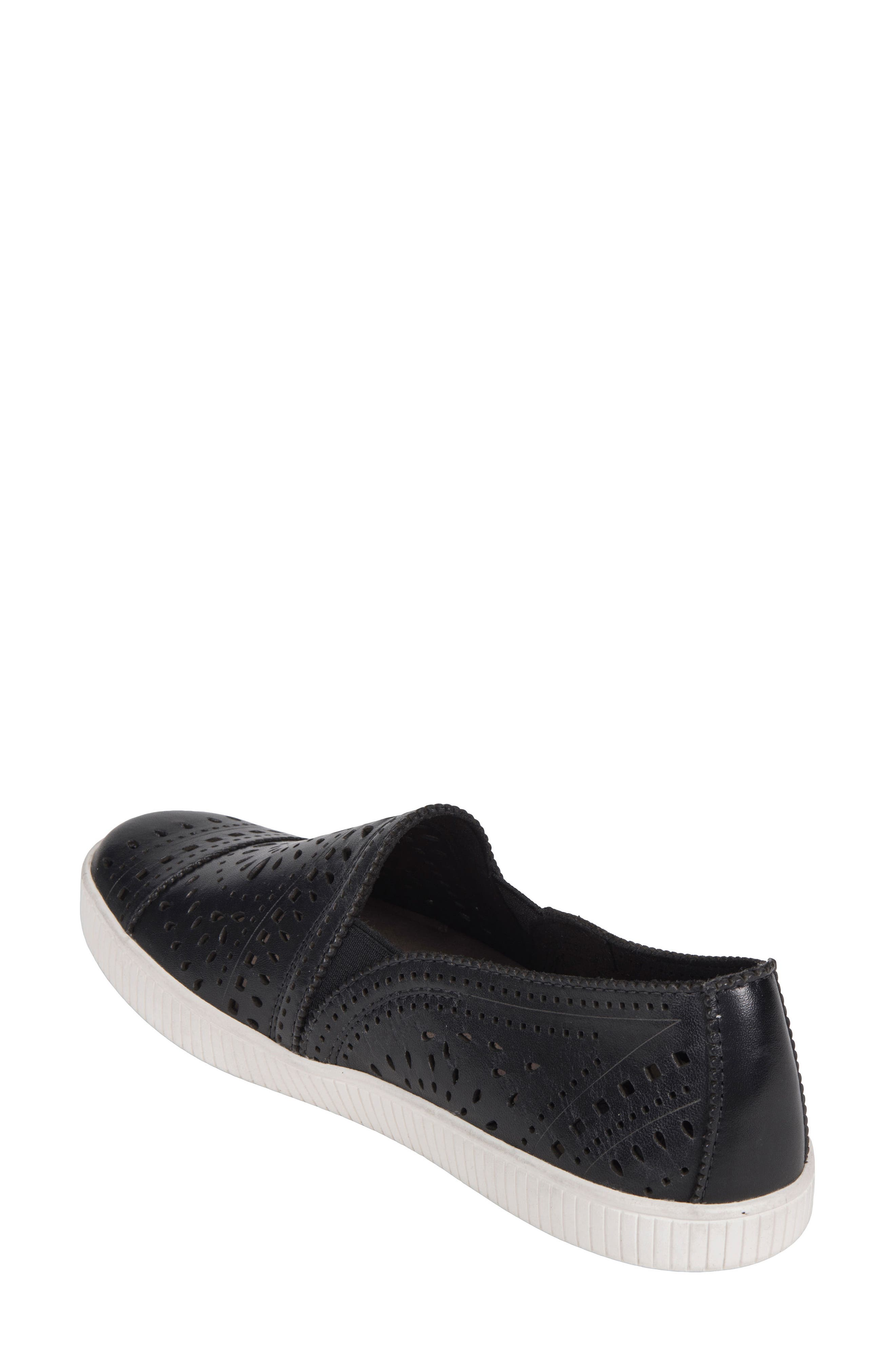 Tayberry Perforated Slip-On Sneaker,                             Alternate thumbnail 2, color,                             001