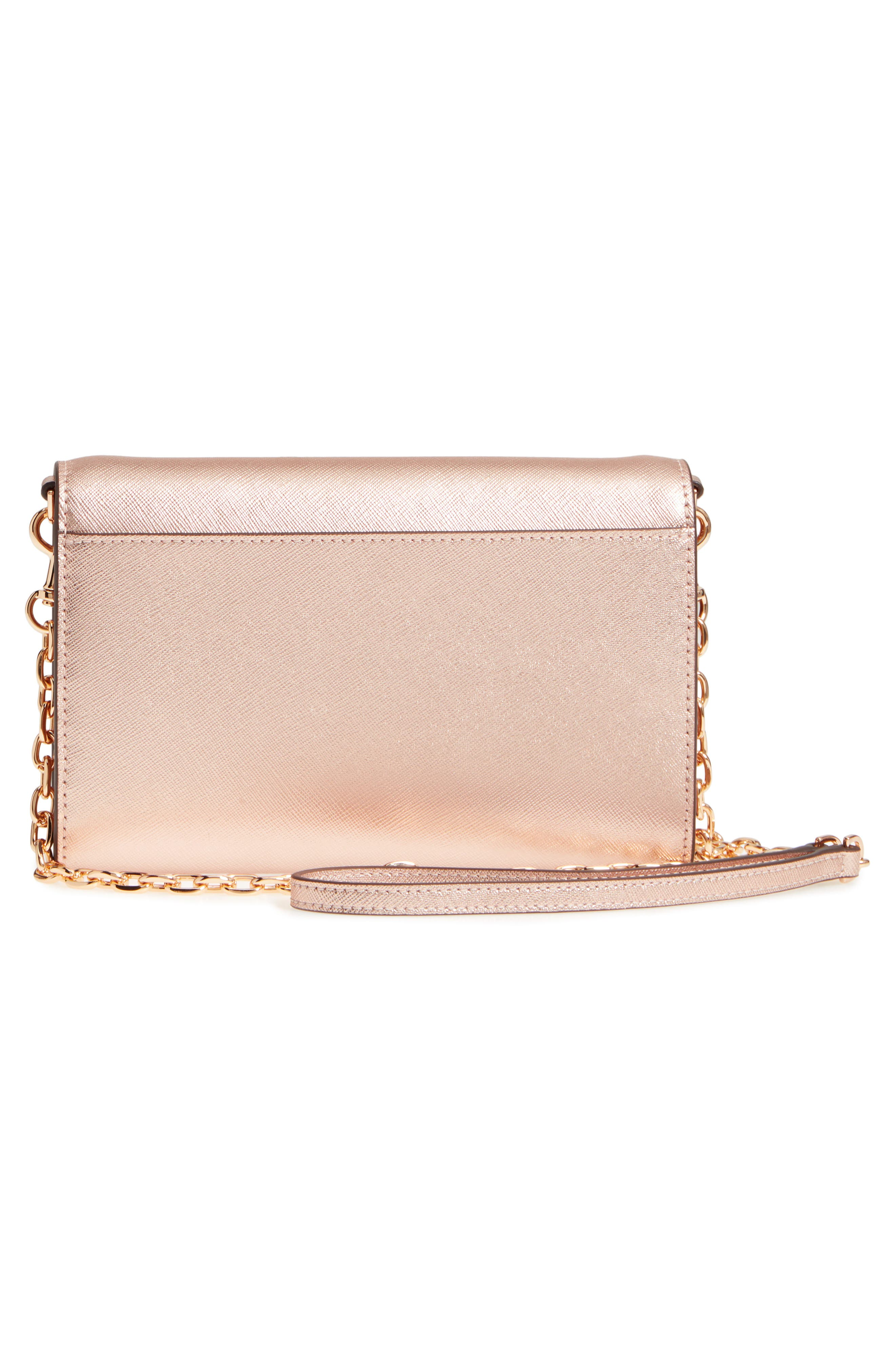 Robinson Metallic Leather Wallet on a Chain,                             Alternate thumbnail 3, color,                             650