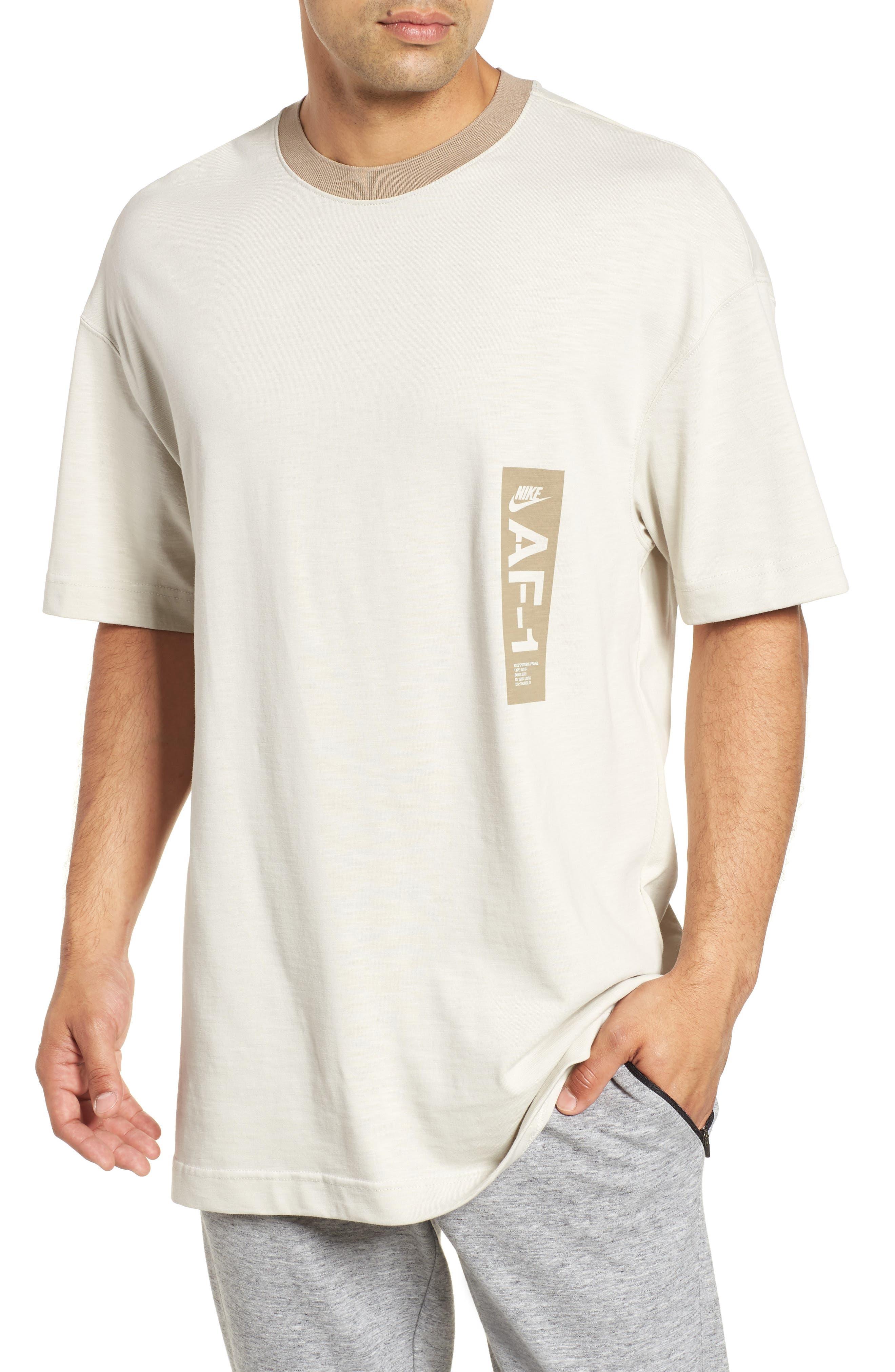 Sportswear AF1 Graphic T-Shirt,                             Main thumbnail 1, color,                             LIGHT BONE/ KHAKI