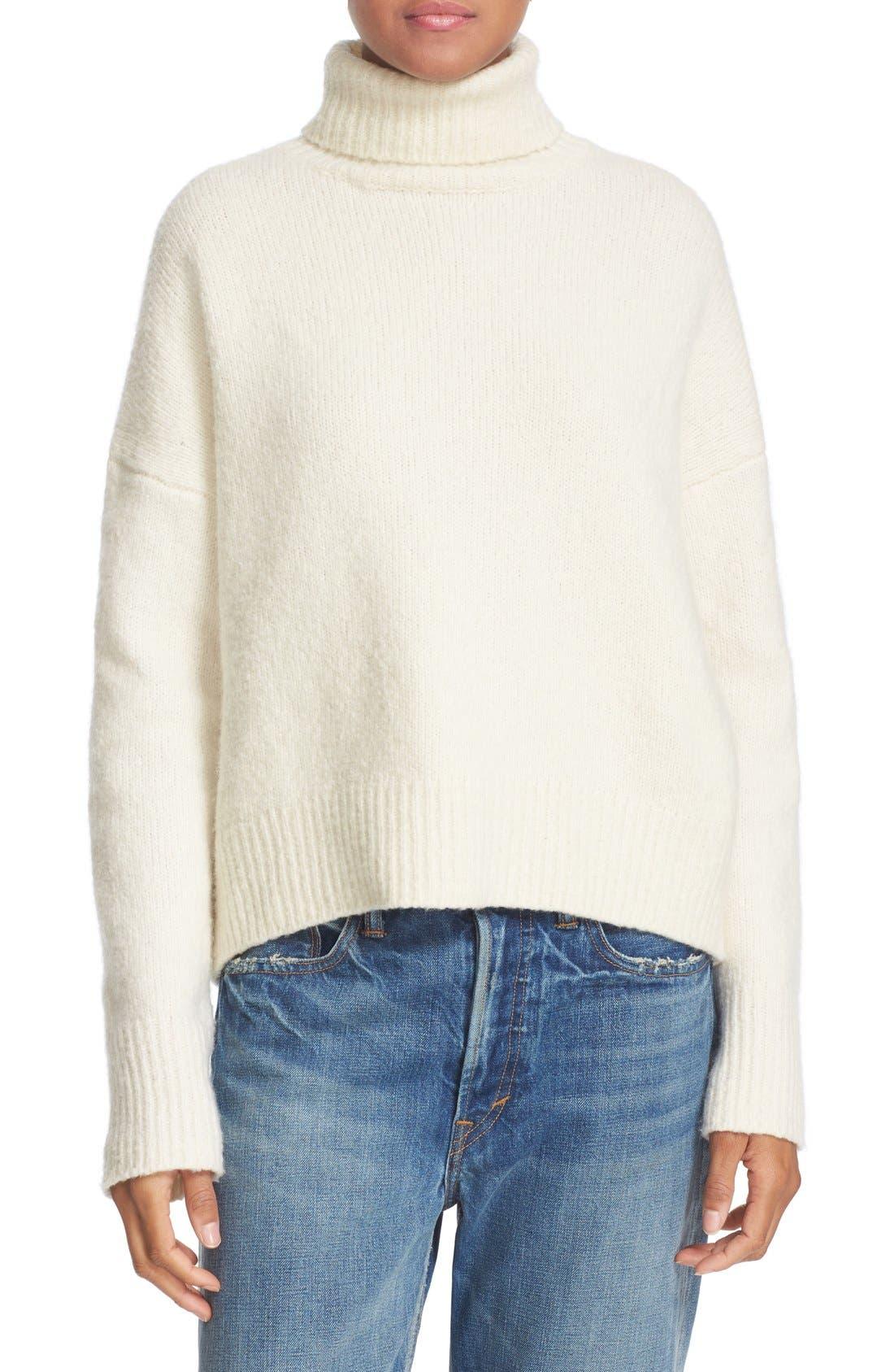 Wool Blend Turtleneck, Main, color, 108