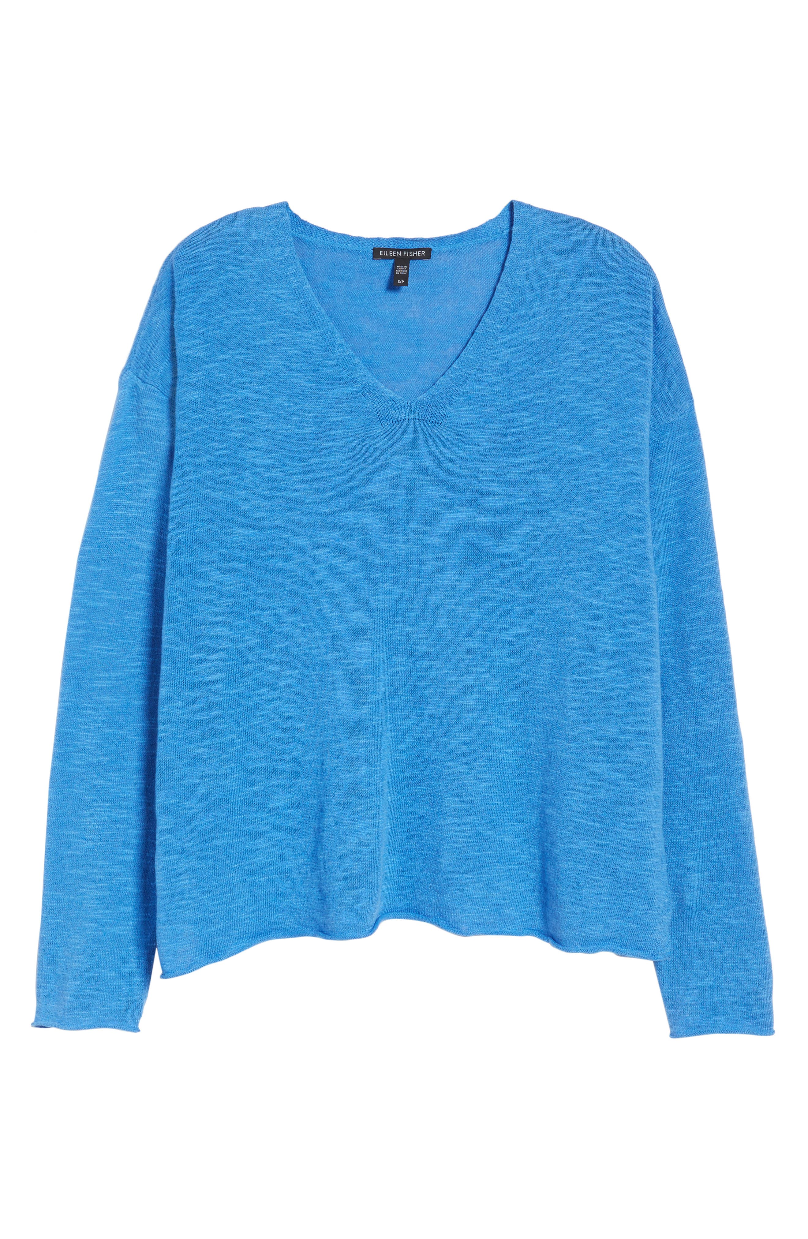 Boxy Organic Linen & Cotton Sweater,                             Alternate thumbnail 24, color,