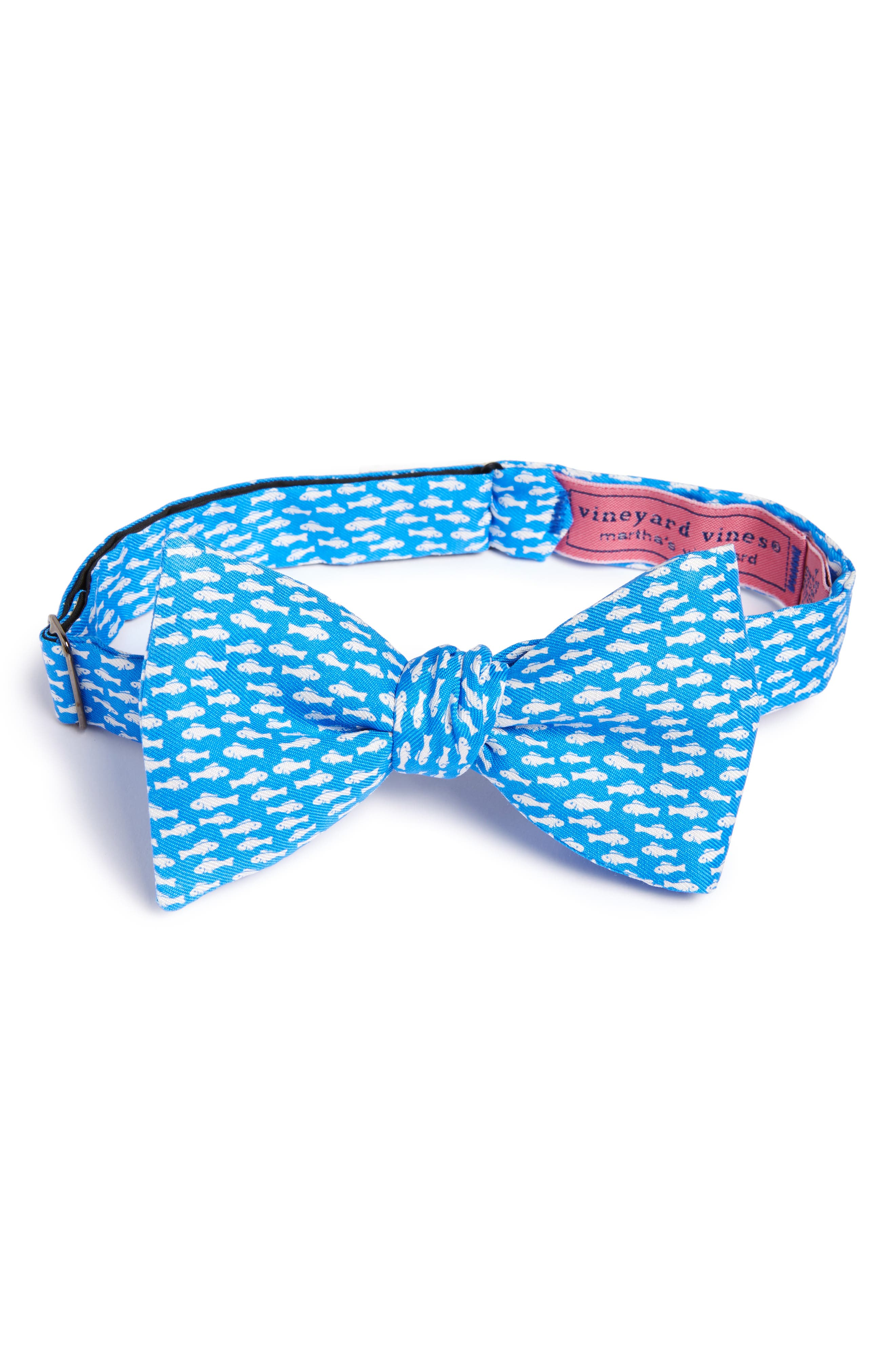 Go Fish Silk Bow Tie,                             Main thumbnail 1, color,                             420