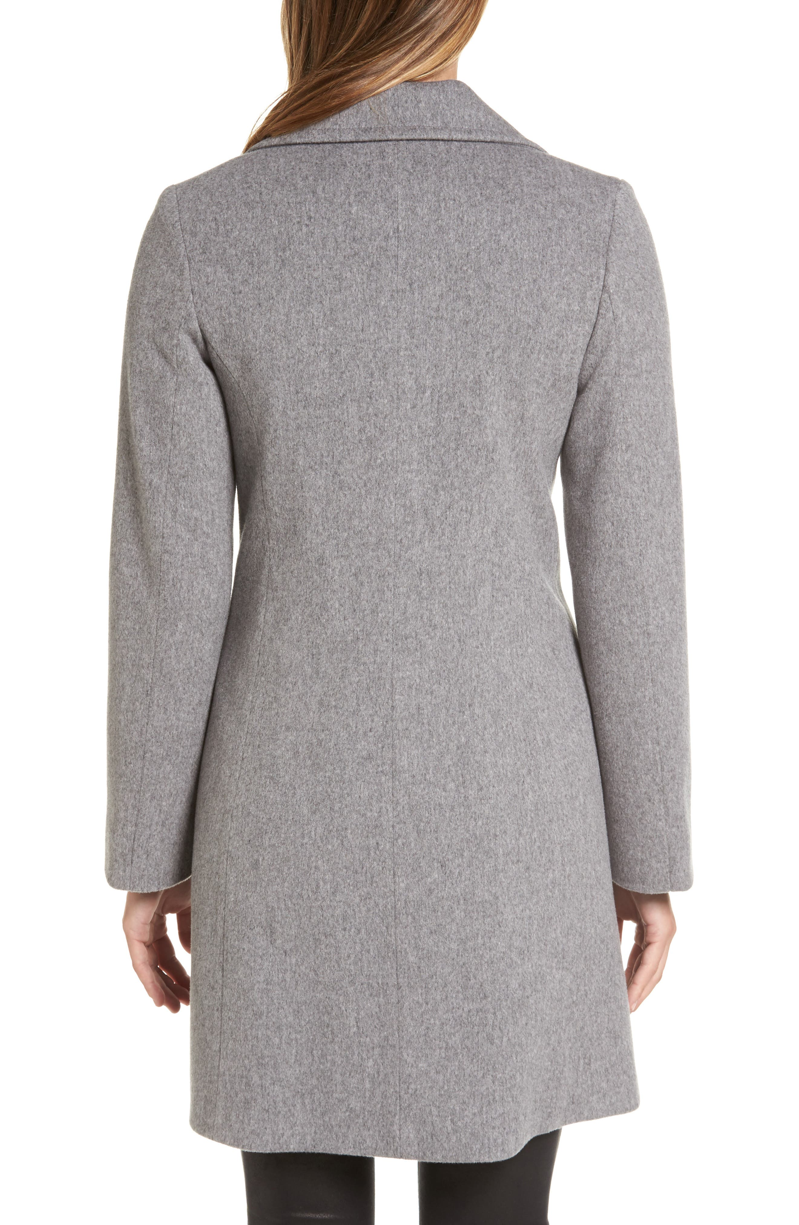 Notch Collar Wool Walking Coat,                             Alternate thumbnail 2, color,                             080