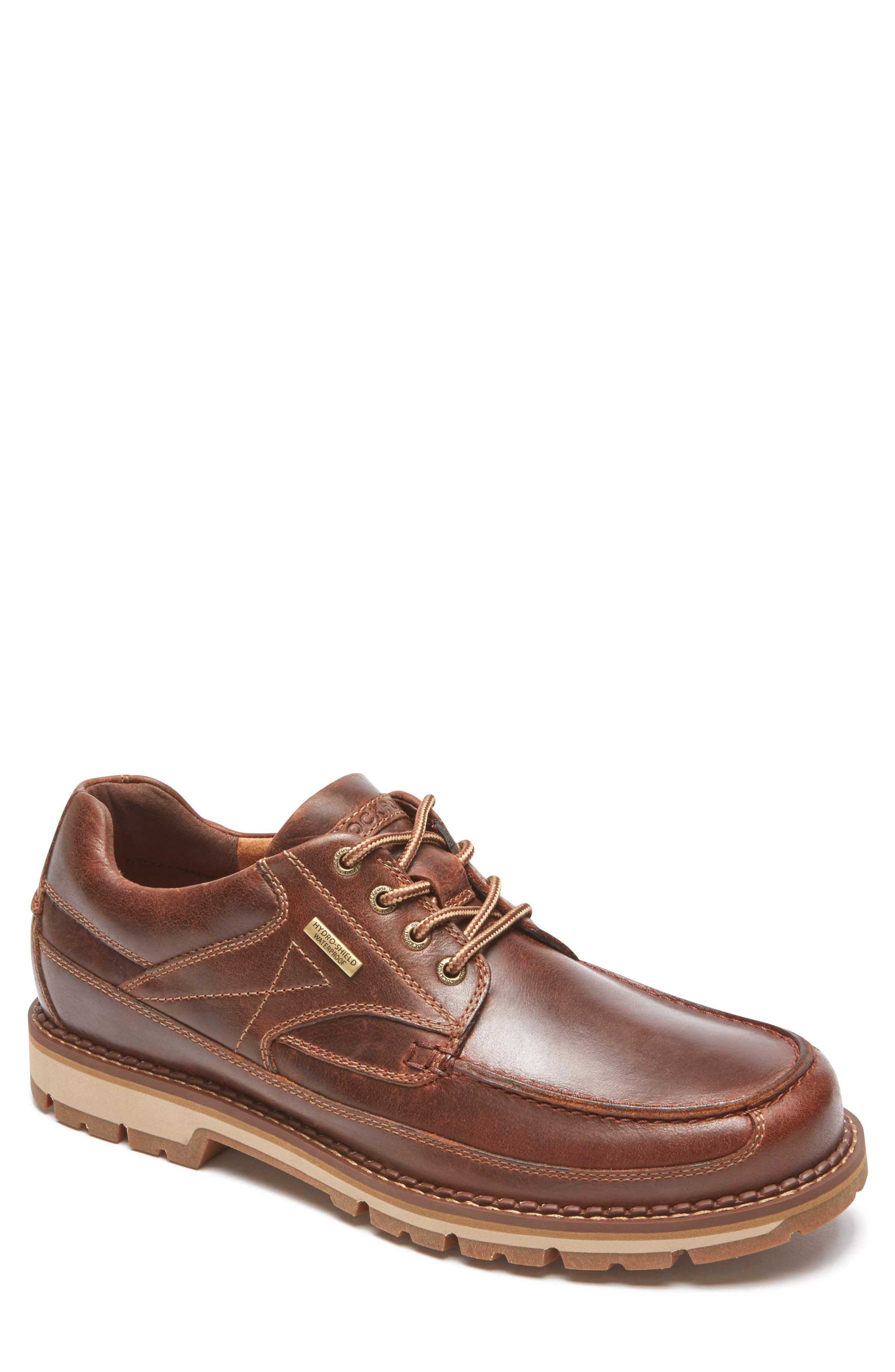 Centry Moc Toe Derby,                         Main,                         color, BROWN LEATHER