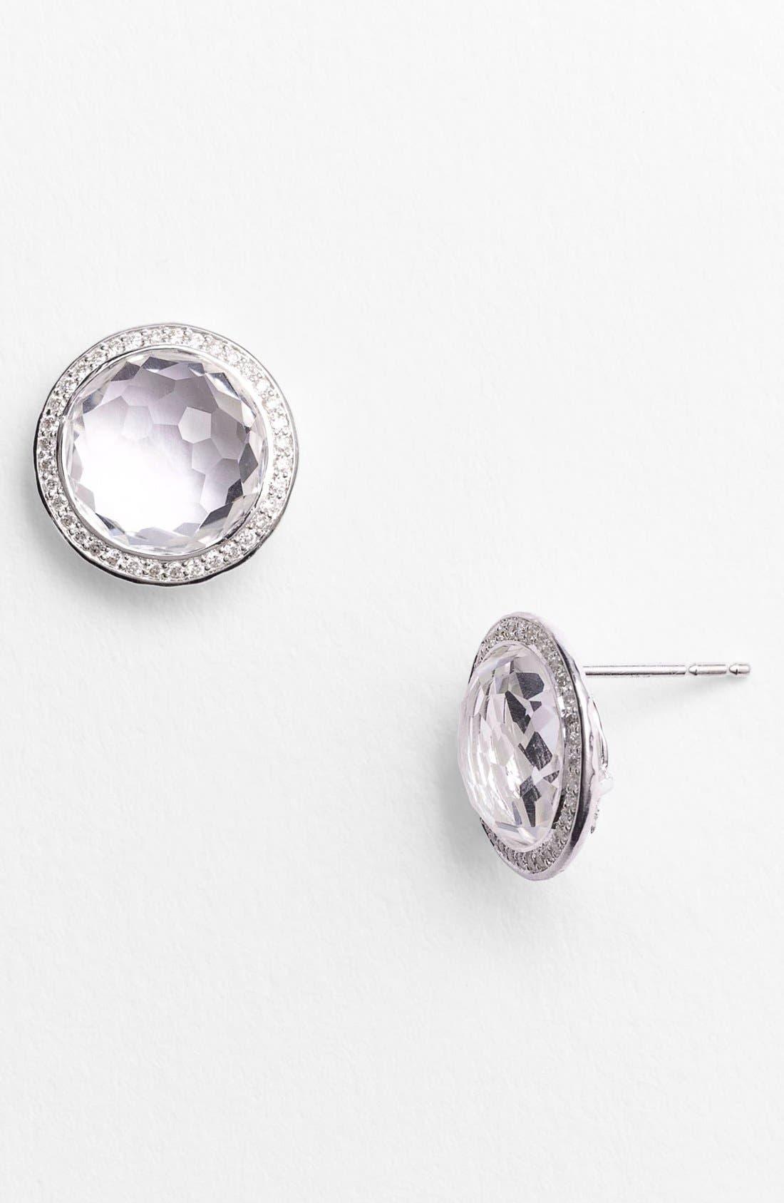 'Rock Candy - Stella' Diamond & Stone Stud Earrings,                             Alternate thumbnail 2, color,                             040