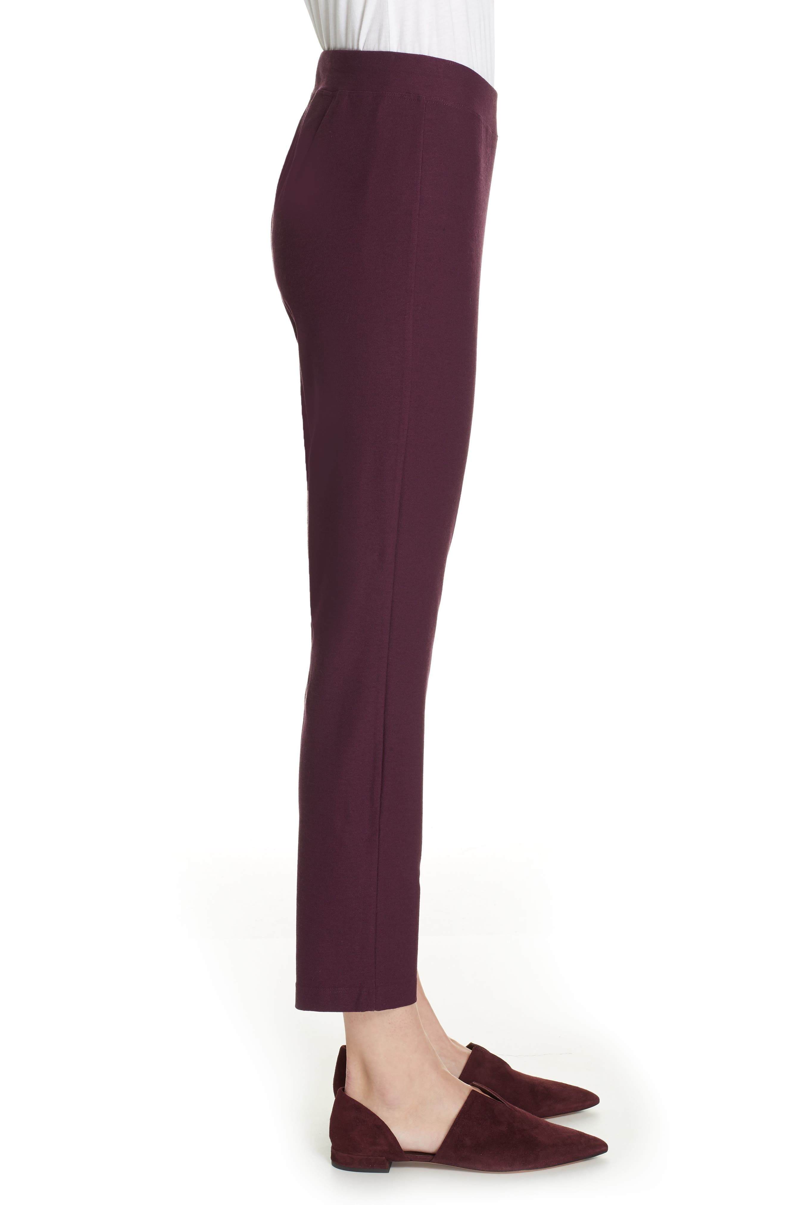 Stretch Crepe Slim Ankle Pants,                             Alternate thumbnail 3, color,                             RAISONETTE