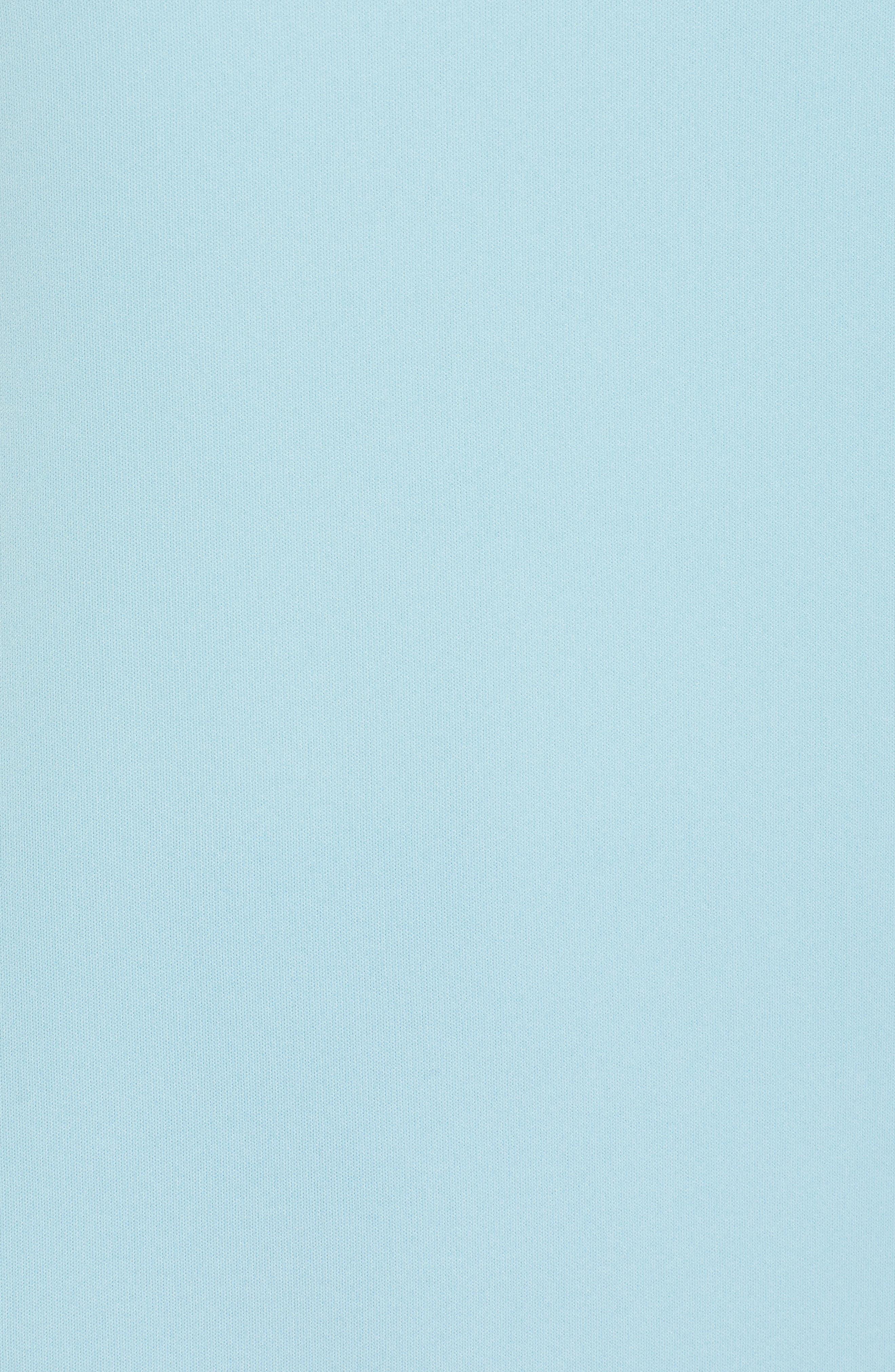Ilyna Crepe Short Sleeve Top,                             Alternate thumbnail 6, color,                             LAGOON BLUE