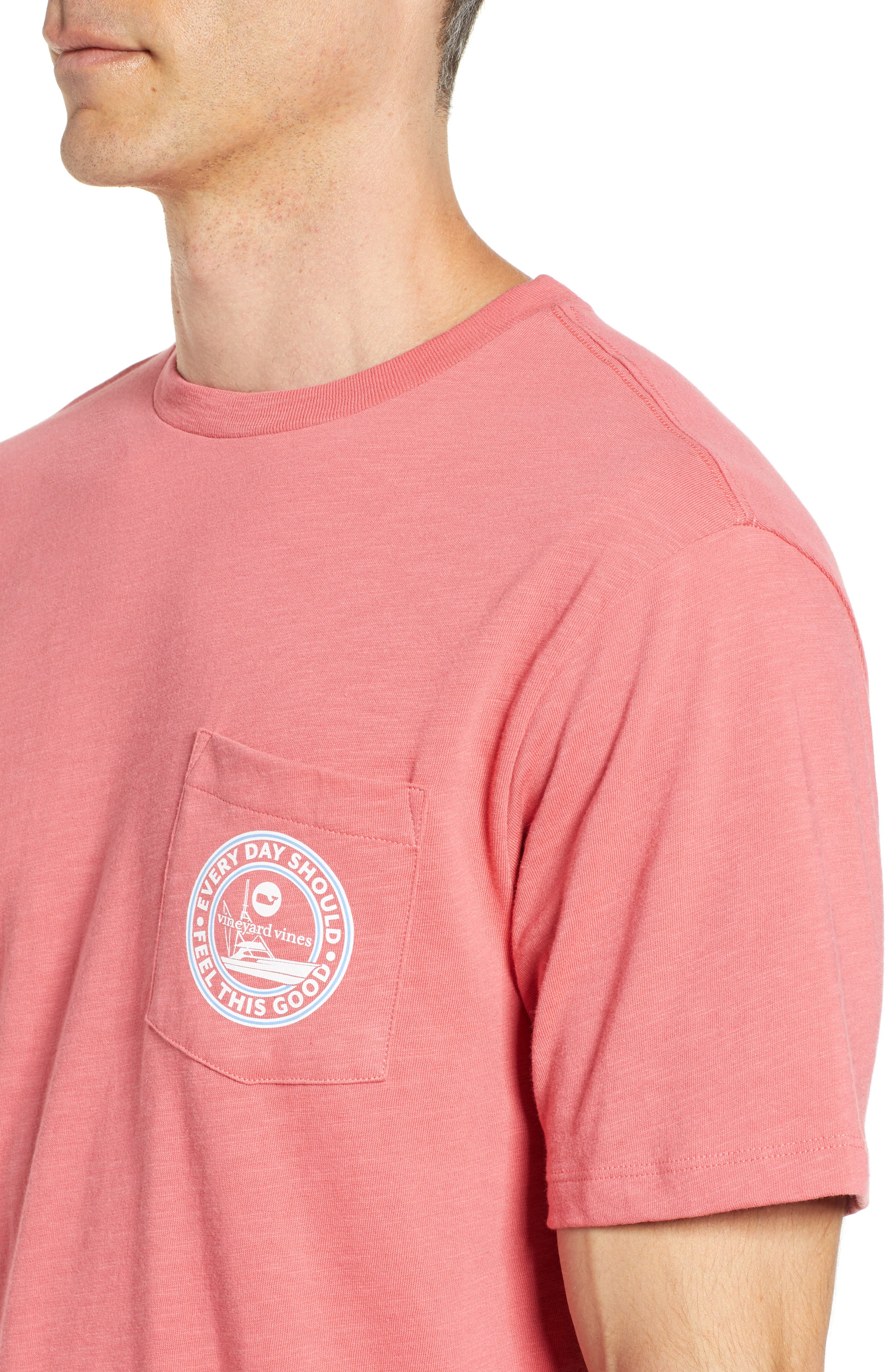 VINEYARD VINES,                             Every Day Should Feel This Good Pocket T-Shirt,                             Alternate thumbnail 4, color,                             628