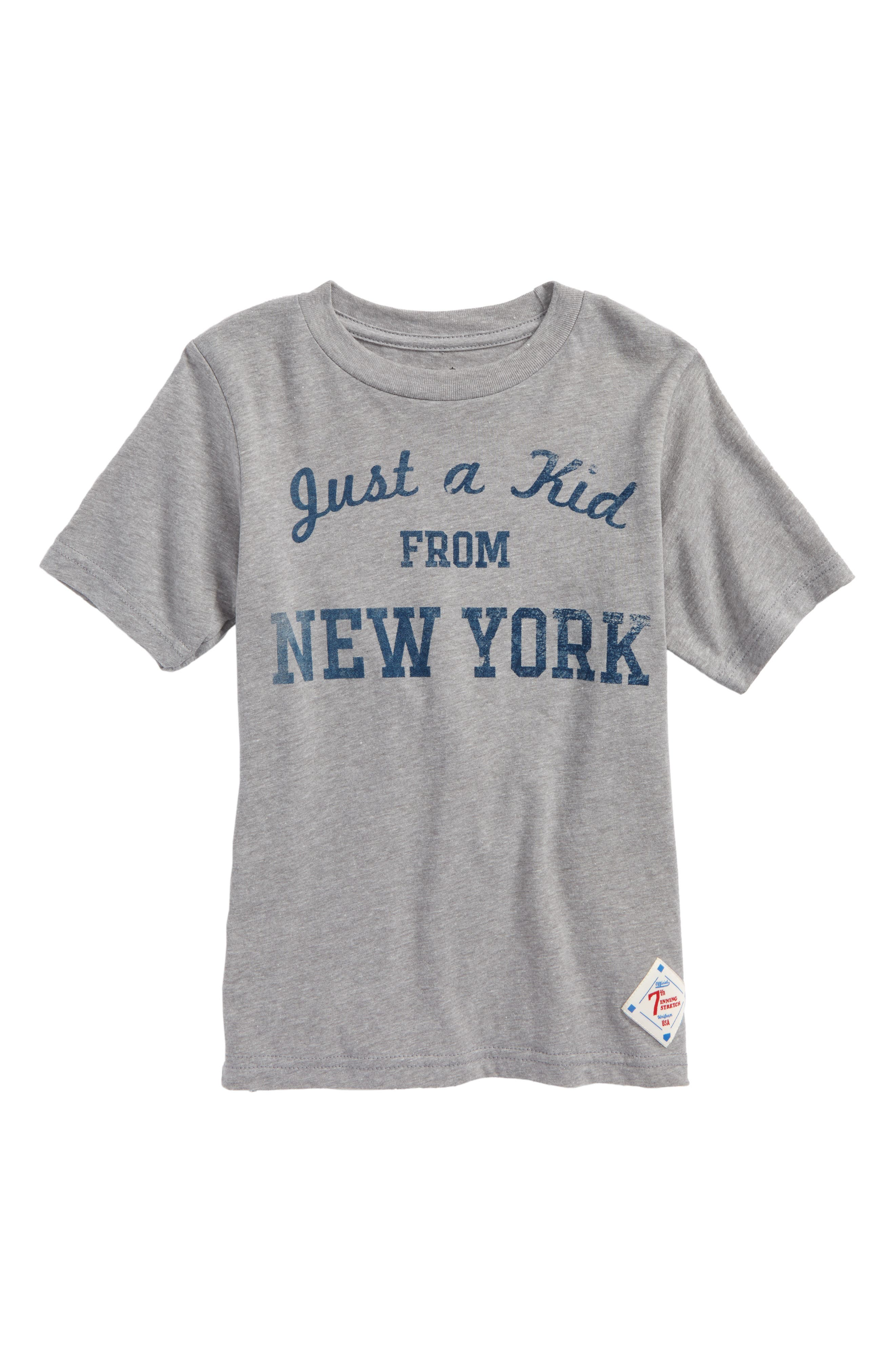 Just a Kid from New York Graphic T-Shirt,                         Main,                         color, 033