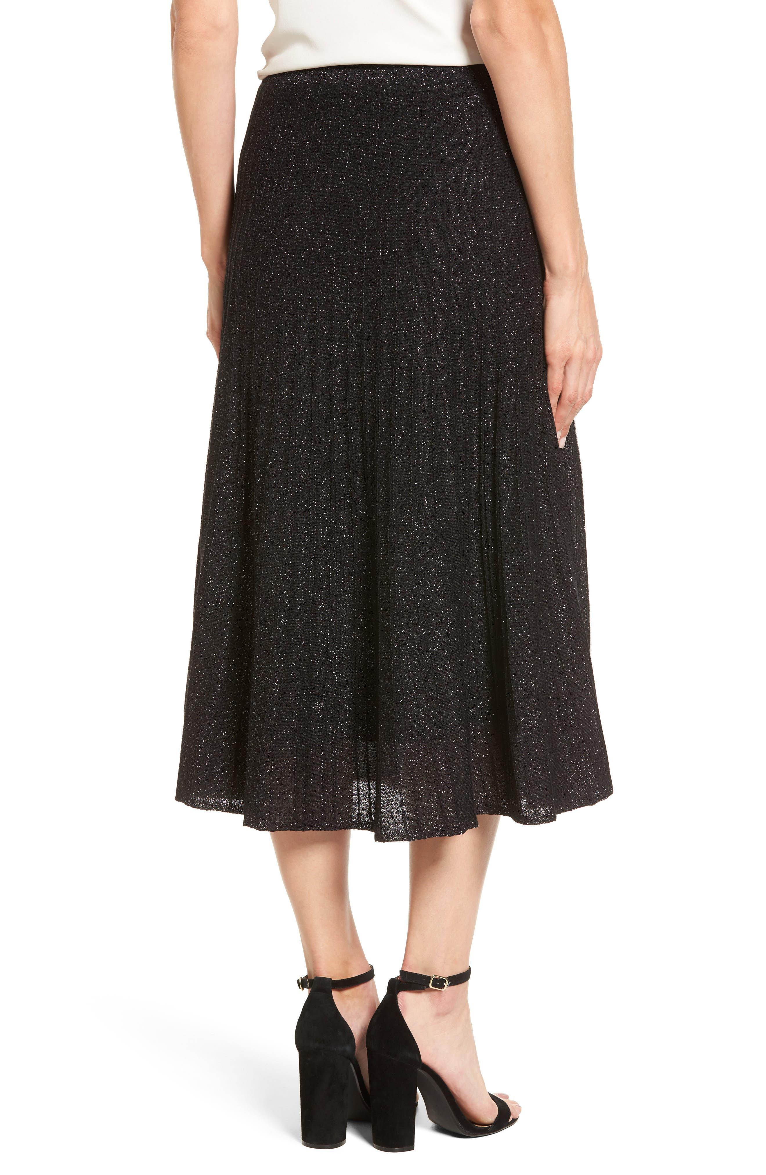 Luminary Pleated Midi Skirt,                             Alternate thumbnail 2, color,