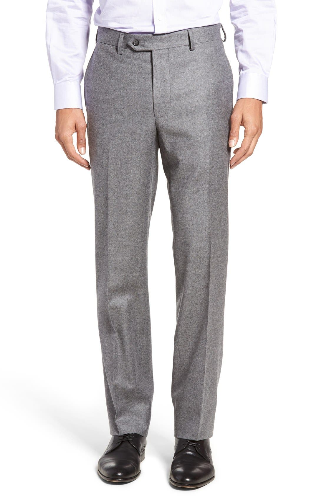 Beckett Classic Fit Solid Wool & Cashmere Suit,                             Alternate thumbnail 6, color,                             050