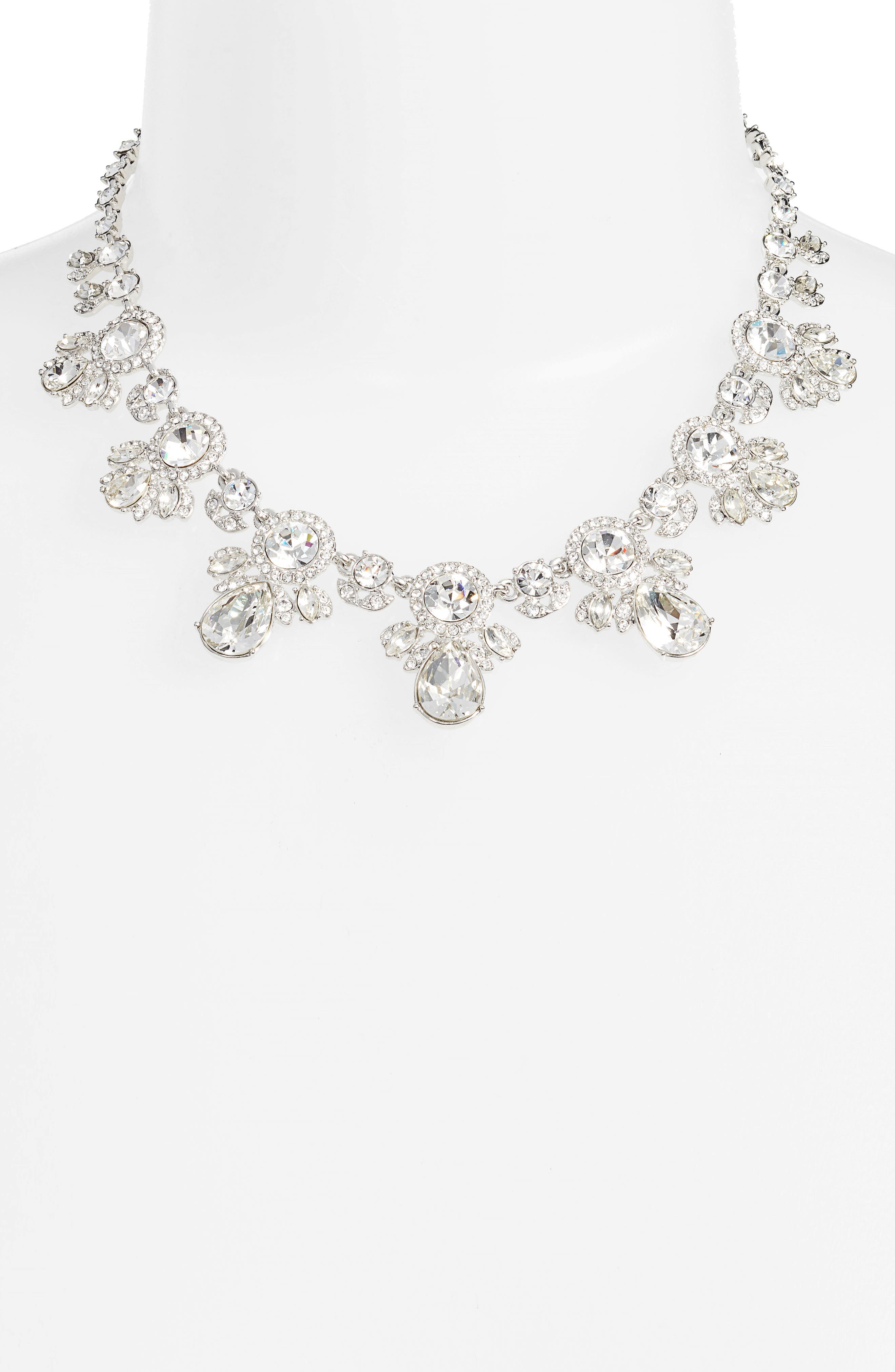 Drama Crystal Collar Necklace,                             Alternate thumbnail 2, color,                             040