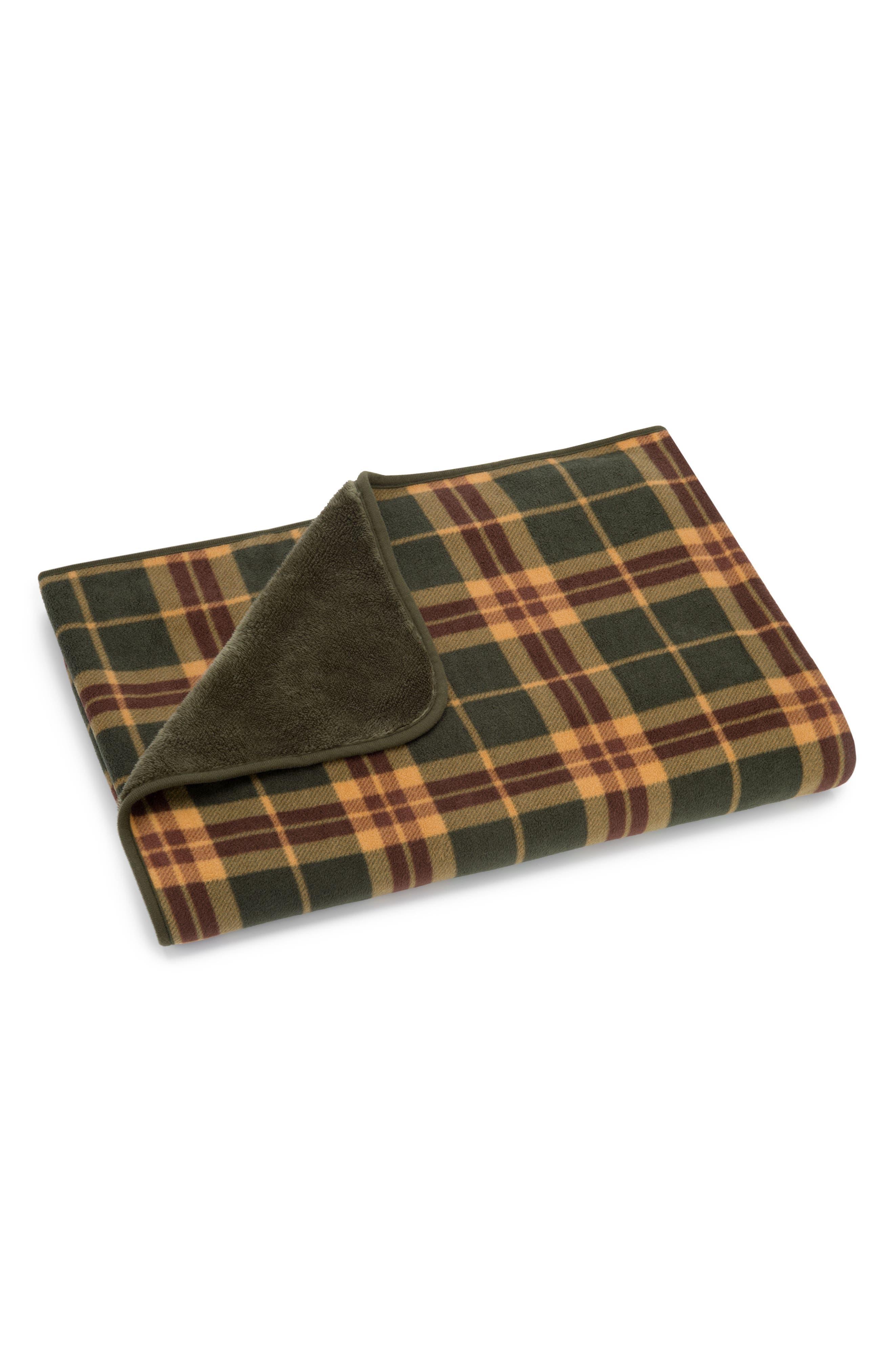 Ambler Plaid Fleece Throw,                         Main,                         color,