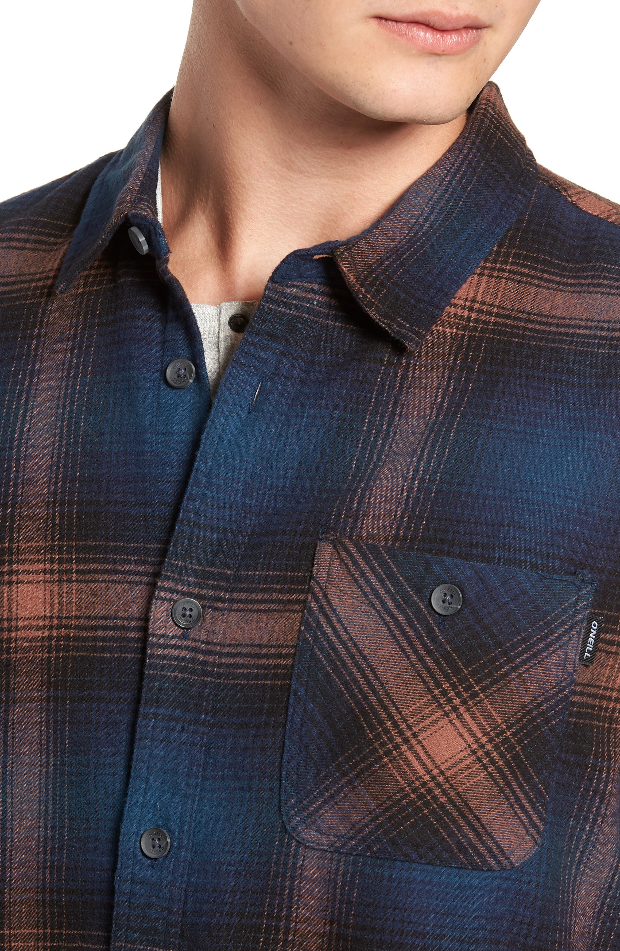 Dillishaw Flannel Shirt,                             Alternate thumbnail 2, color,                             NAVY