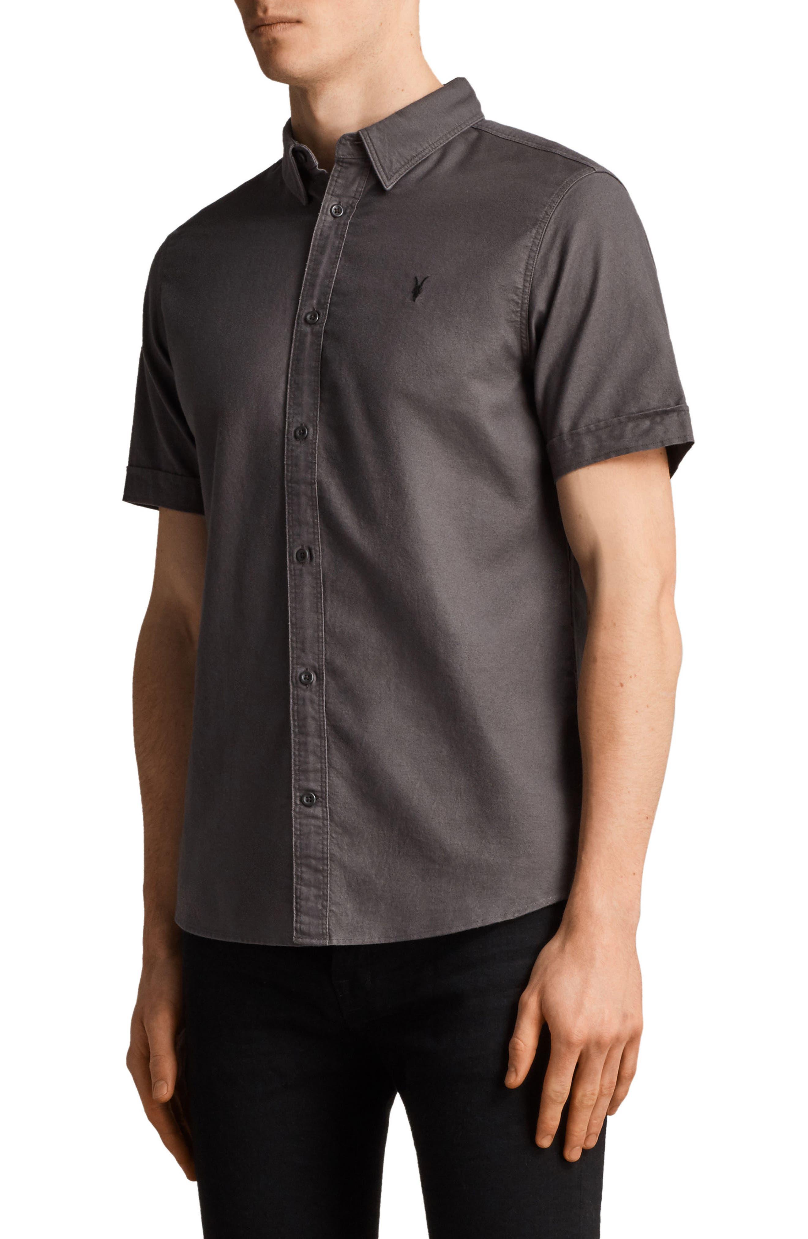 Huntington Regular Fit Short Sleeve Sport Shirt,                             Alternate thumbnail 12, color,