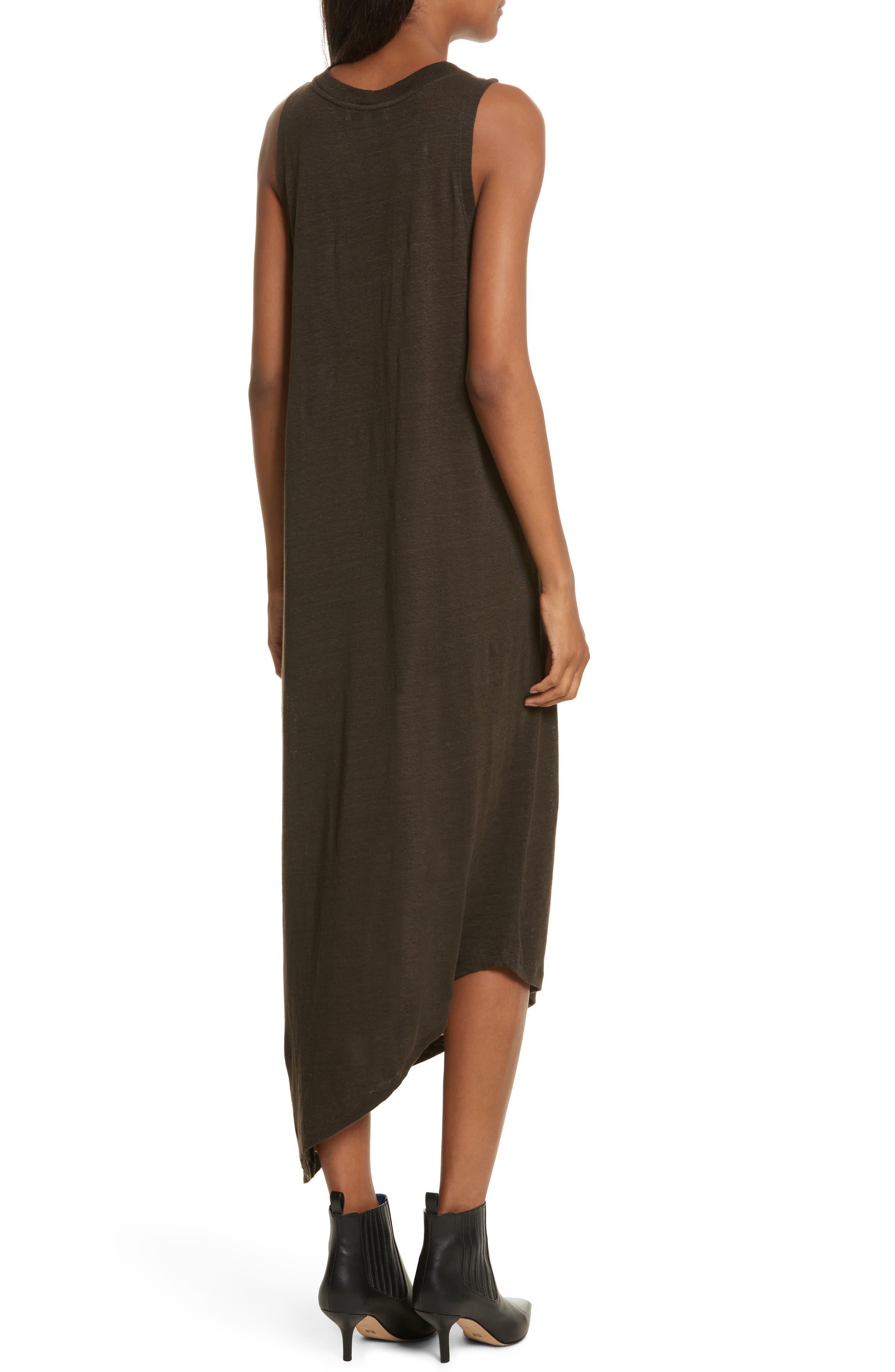 Karossi Asymmetrical Linen Tank Dress,                             Alternate thumbnail 2, color,                             029