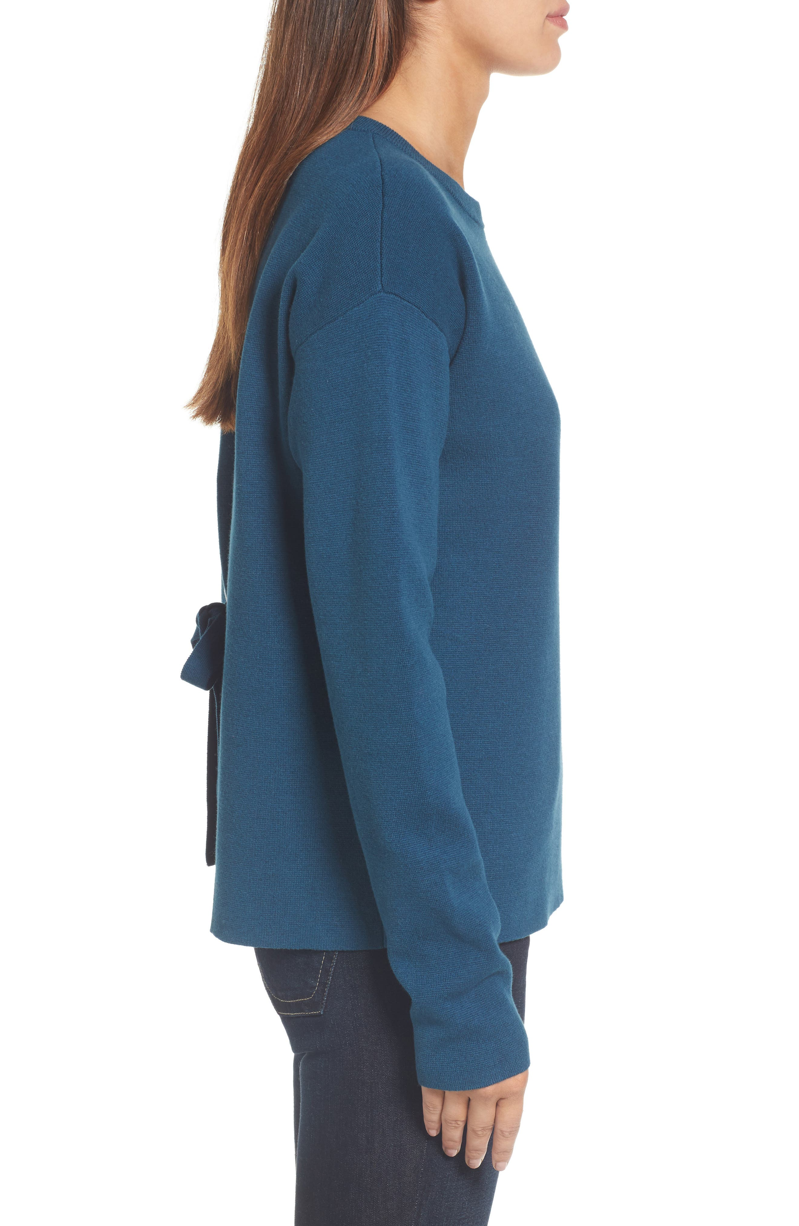 Tie Back Sweater,                             Alternate thumbnail 9, color,