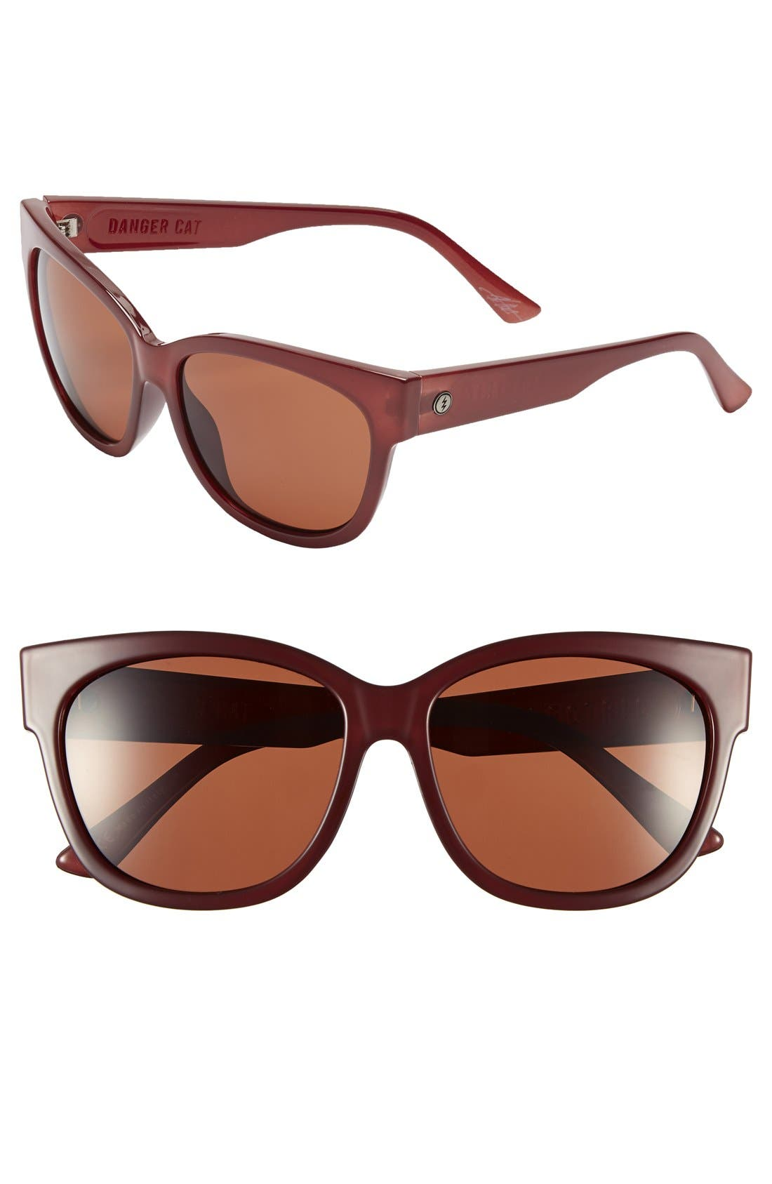 'Danger Cat' 58mm Retro Sunglasses,                             Main thumbnail 1, color,