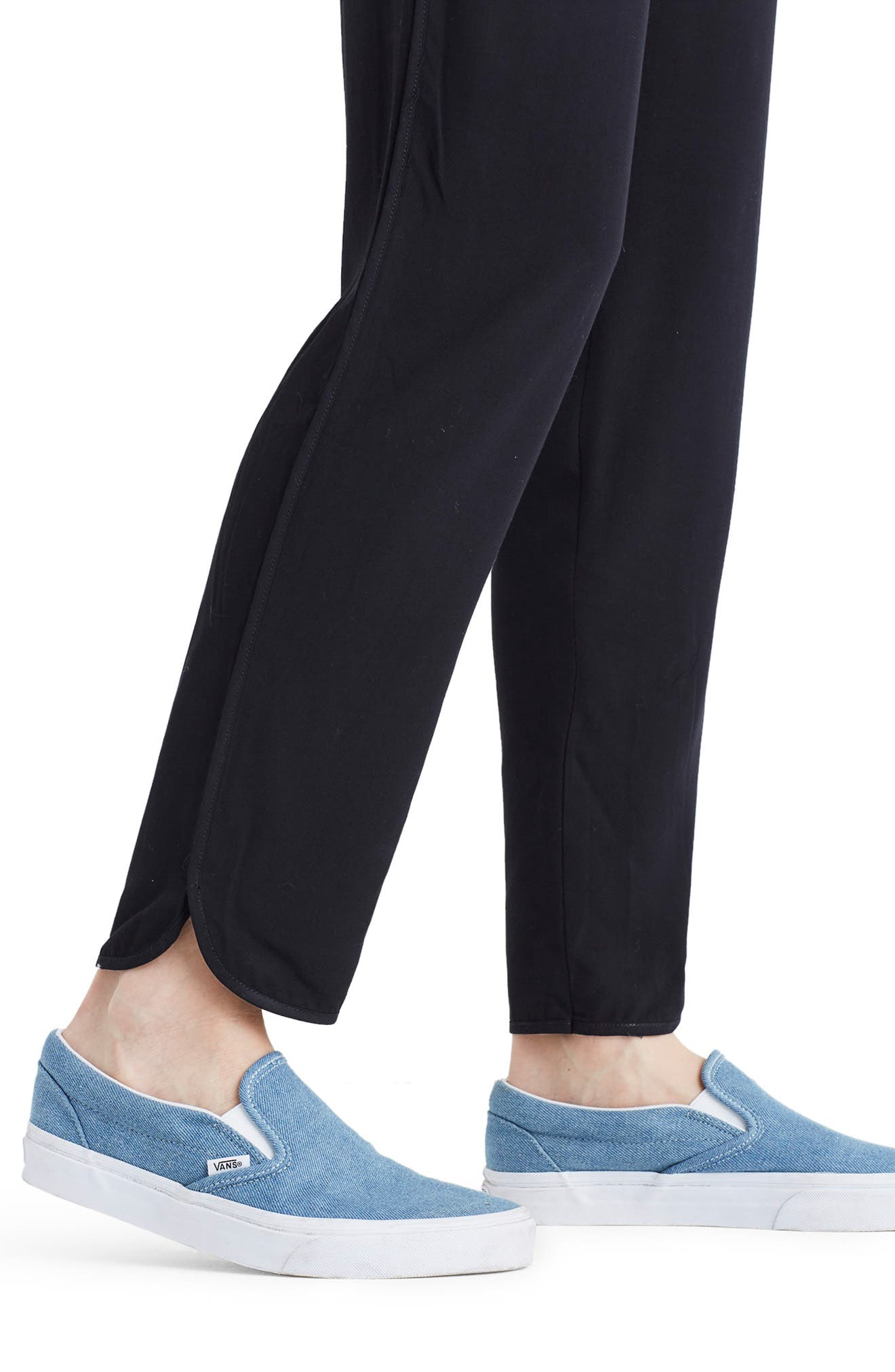 MADEWELL,                             Track Trousers,                             Alternate thumbnail 4, color,                             TRUE BLACK