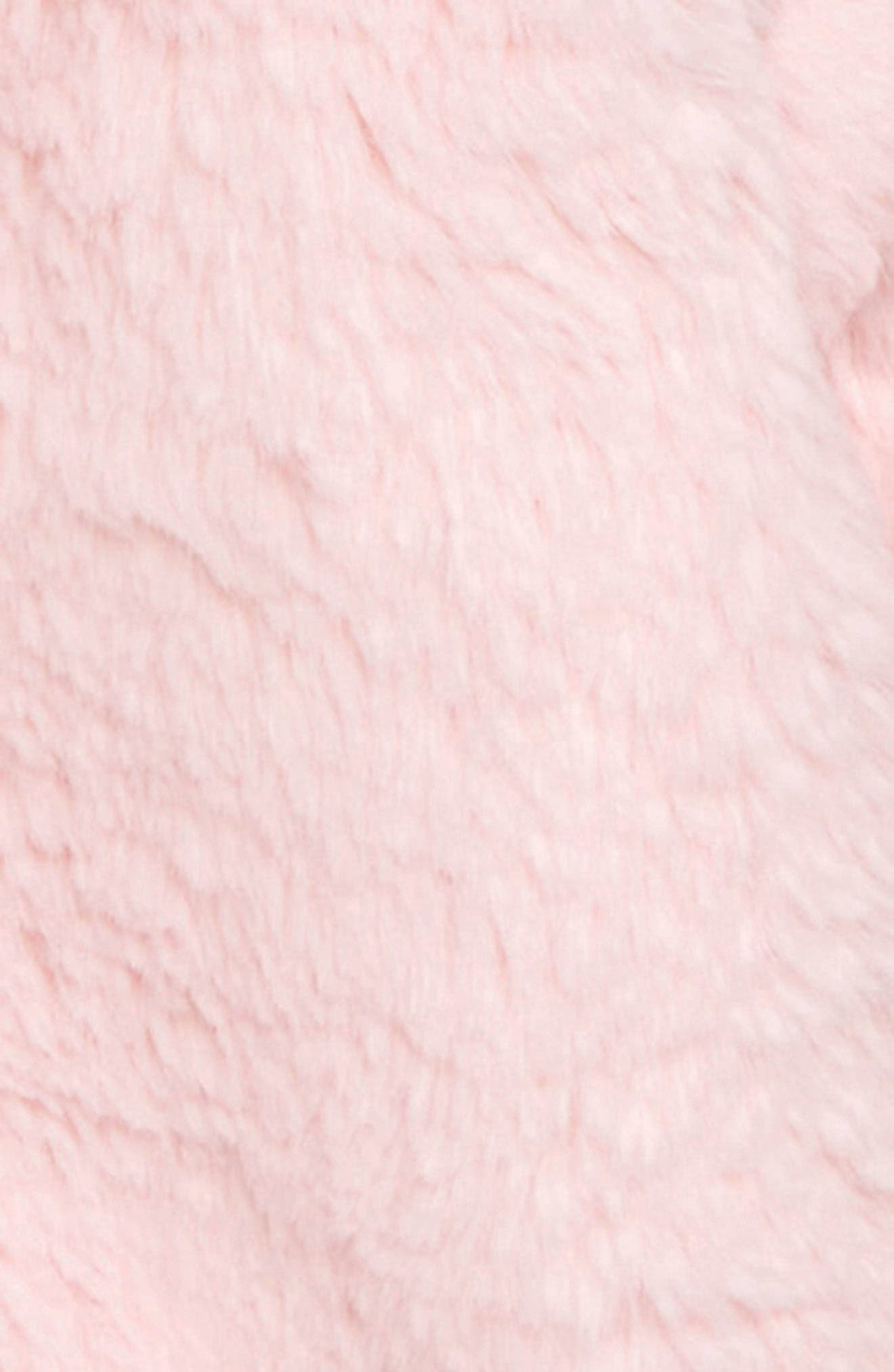 Fluffy Bunny Jacket,                             Alternate thumbnail 2, color,                             PINK BABY