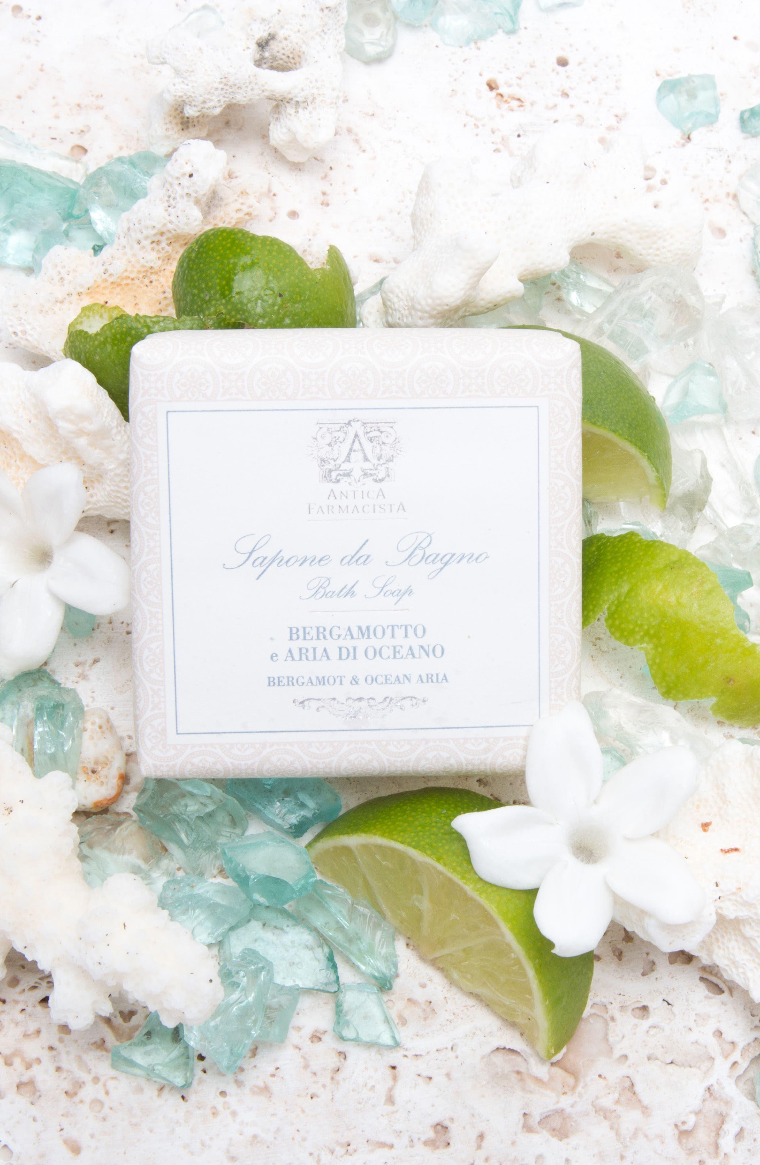 'Bergamot & Ocean Aria' Bar Soap,                             Alternate thumbnail 4, color,                             000