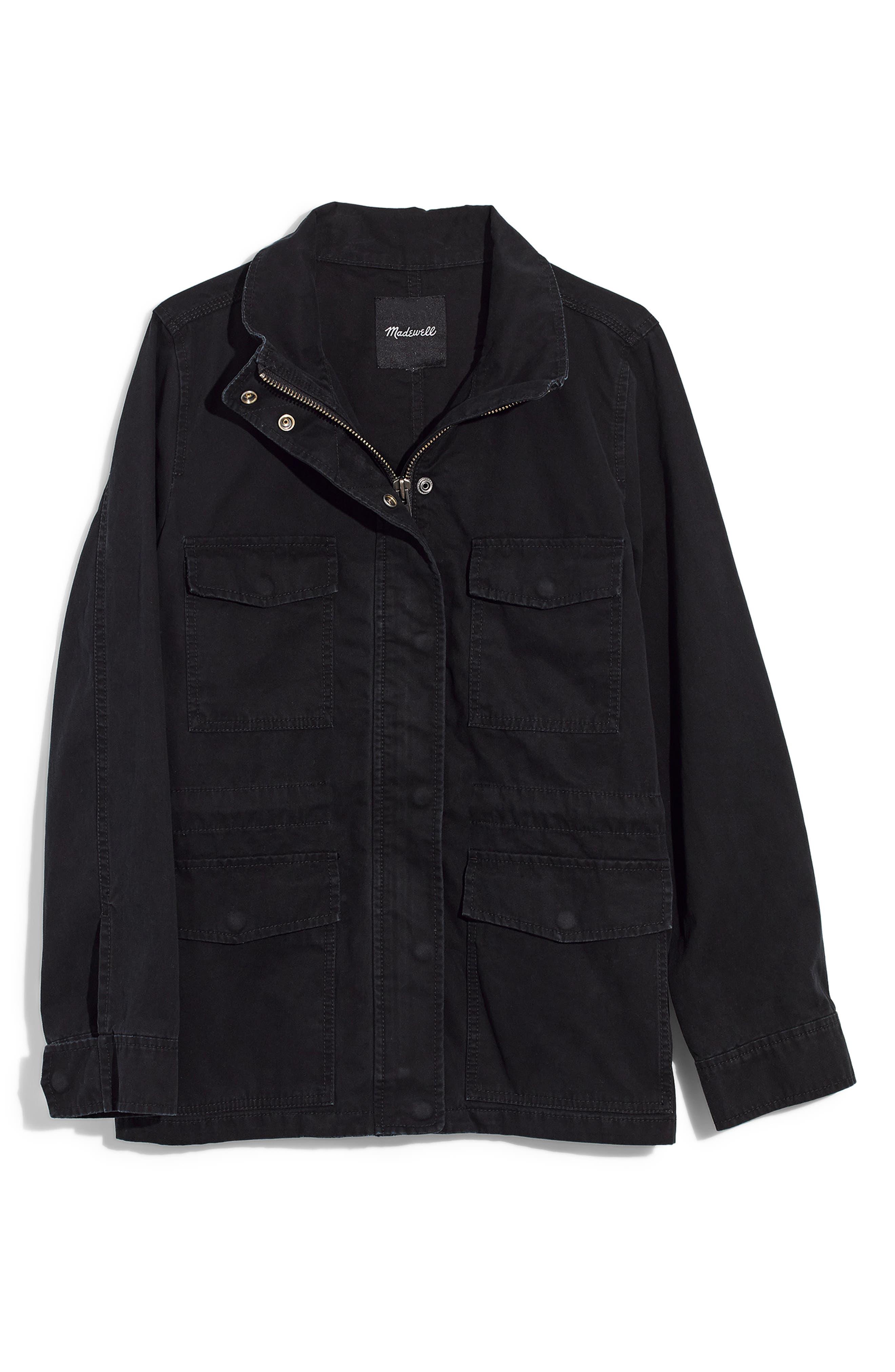 Surplus Jacket,                             Alternate thumbnail 5, color,                             TRUE BLACK