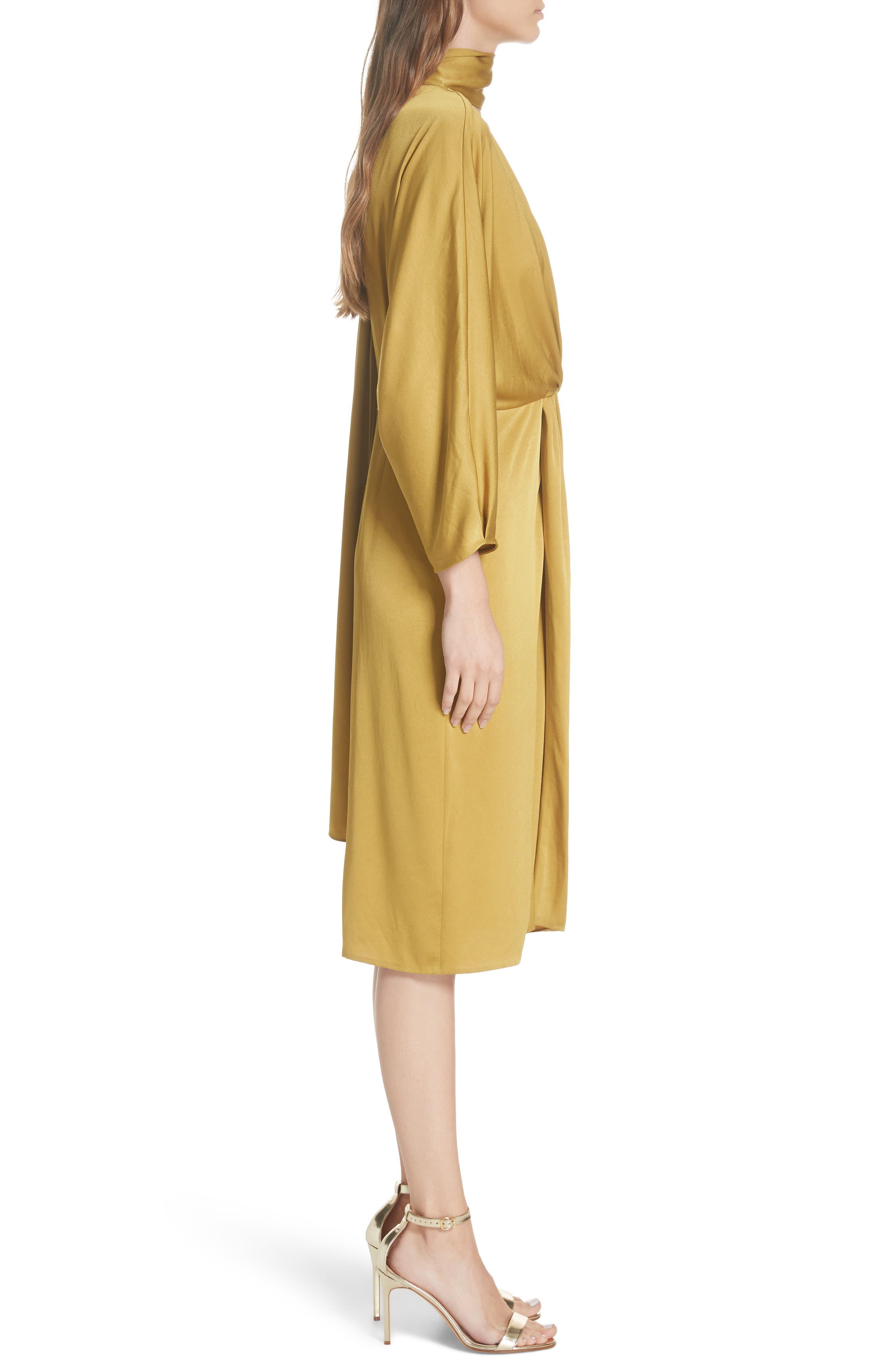 Twist Front Faux Wrap Dress,                             Alternate thumbnail 3, color,                             710