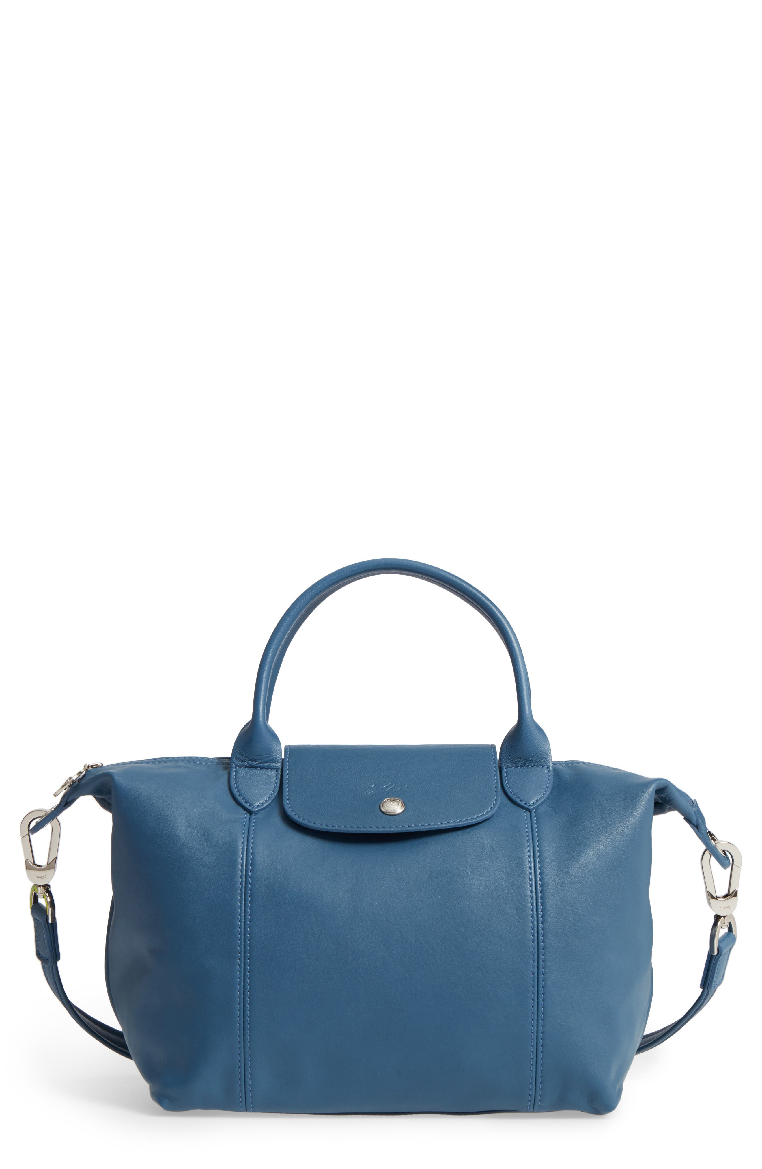 Small 'Le Pliage Cuir' Leather Top Handle Tote,                             Main thumbnail 12, color,