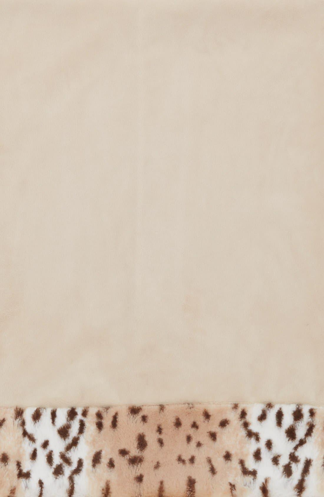 Snow Leopard Blankie,                             Alternate thumbnail 2, color,                             000