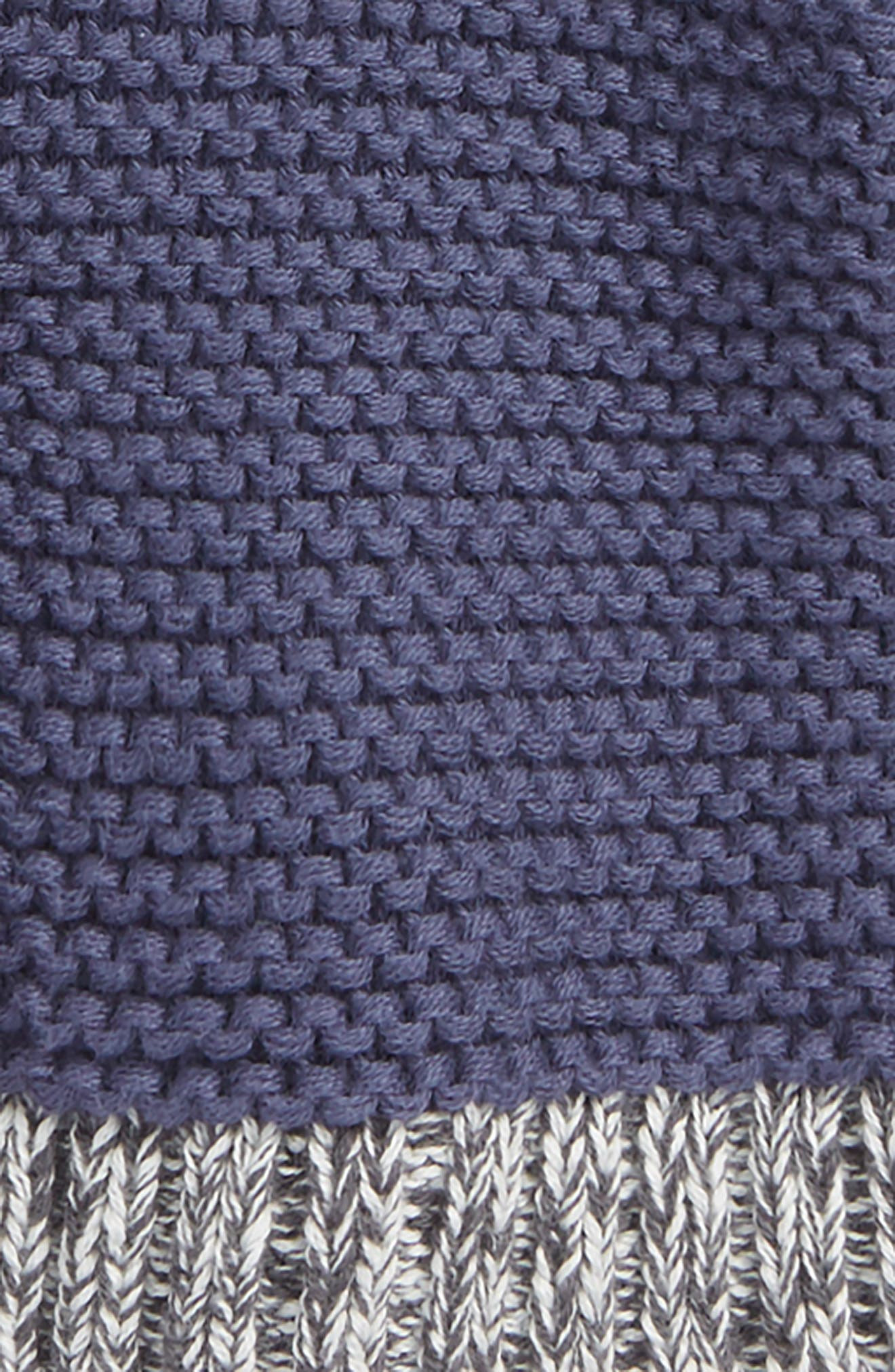 Organic Cotton Hooded Cardigan,                             Alternate thumbnail 2, color,                             NAVY CROWN