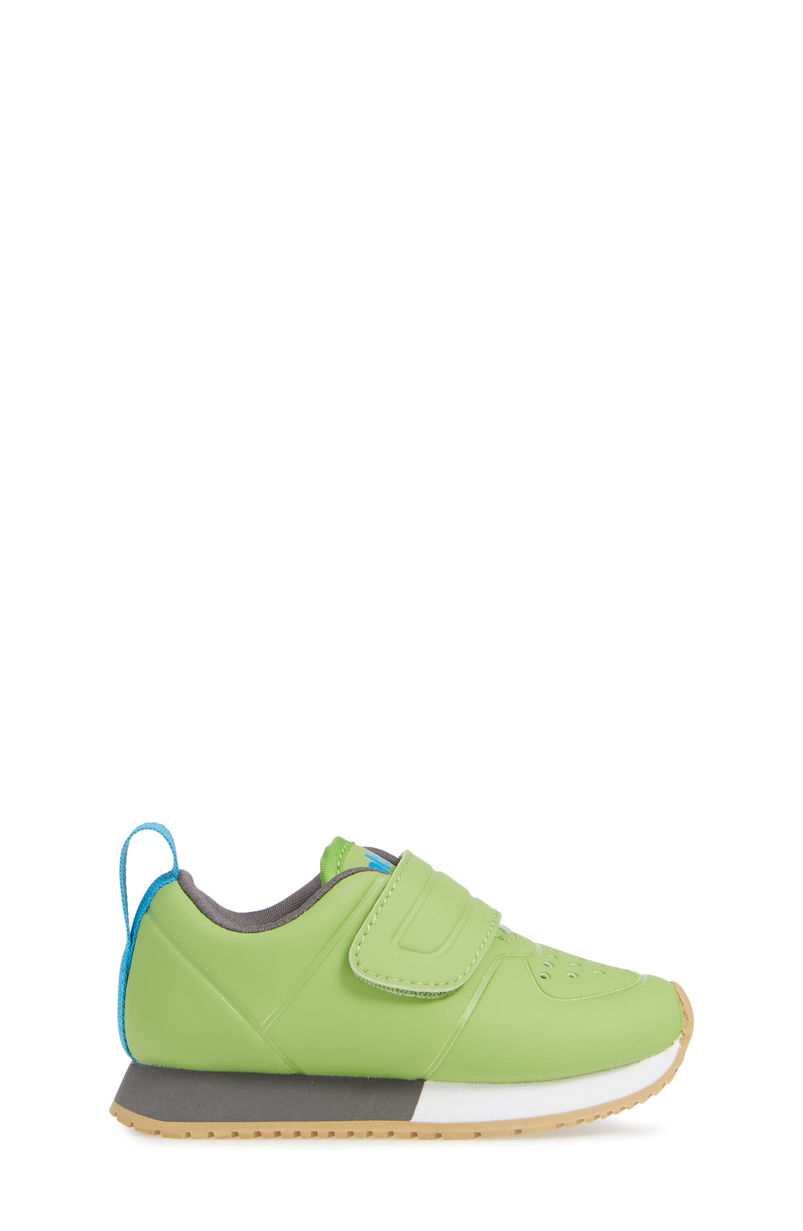 Cornell Perforated Colorblock Sneaker,                             Alternate thumbnail 3, color,                             SPRING GREEN/ WHITE/ GREY