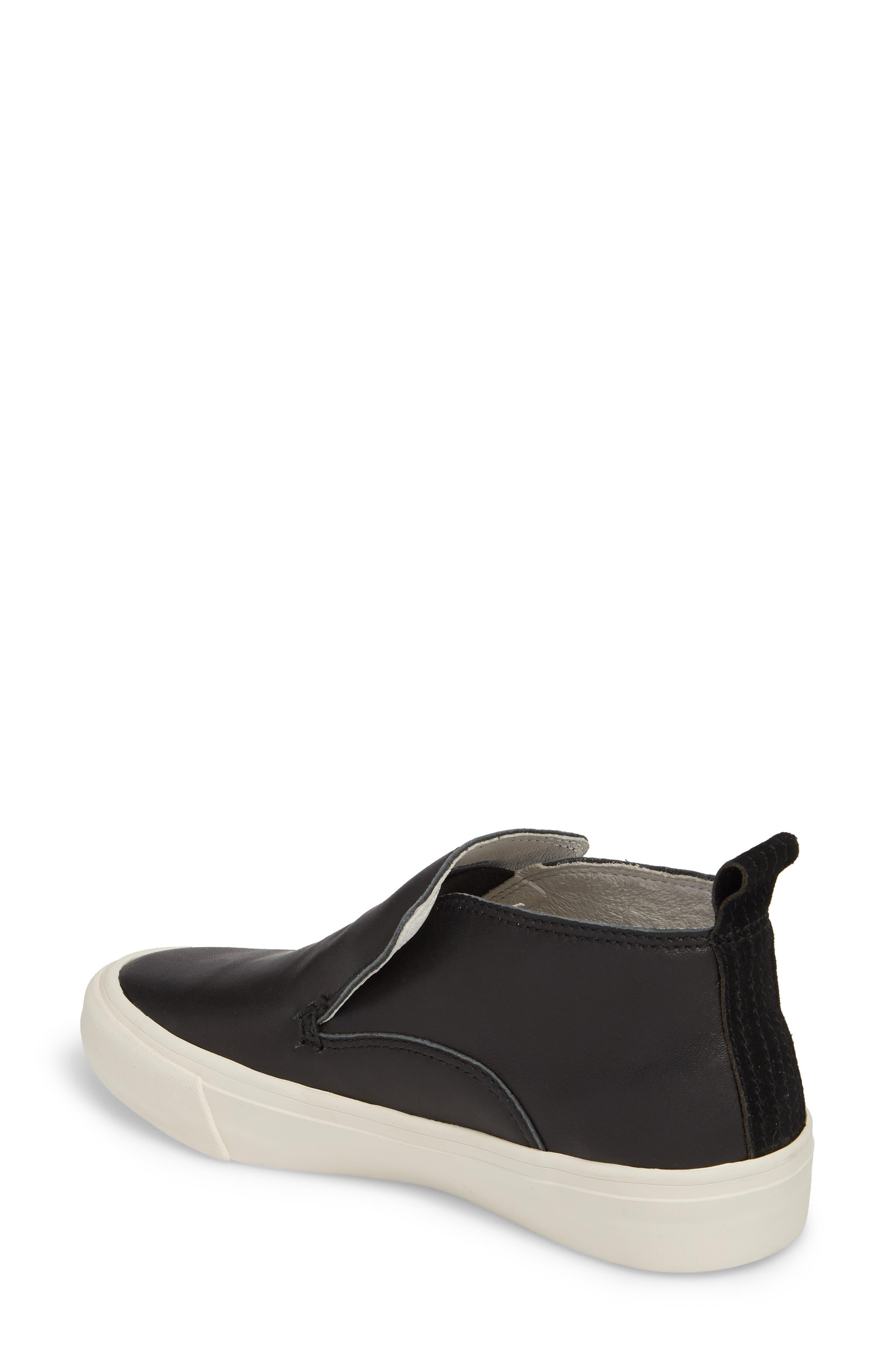 x Derek Lam 10 Crosby Huntington Middie Sneaker,                             Alternate thumbnail 2, color,                             BLACK LEATHER