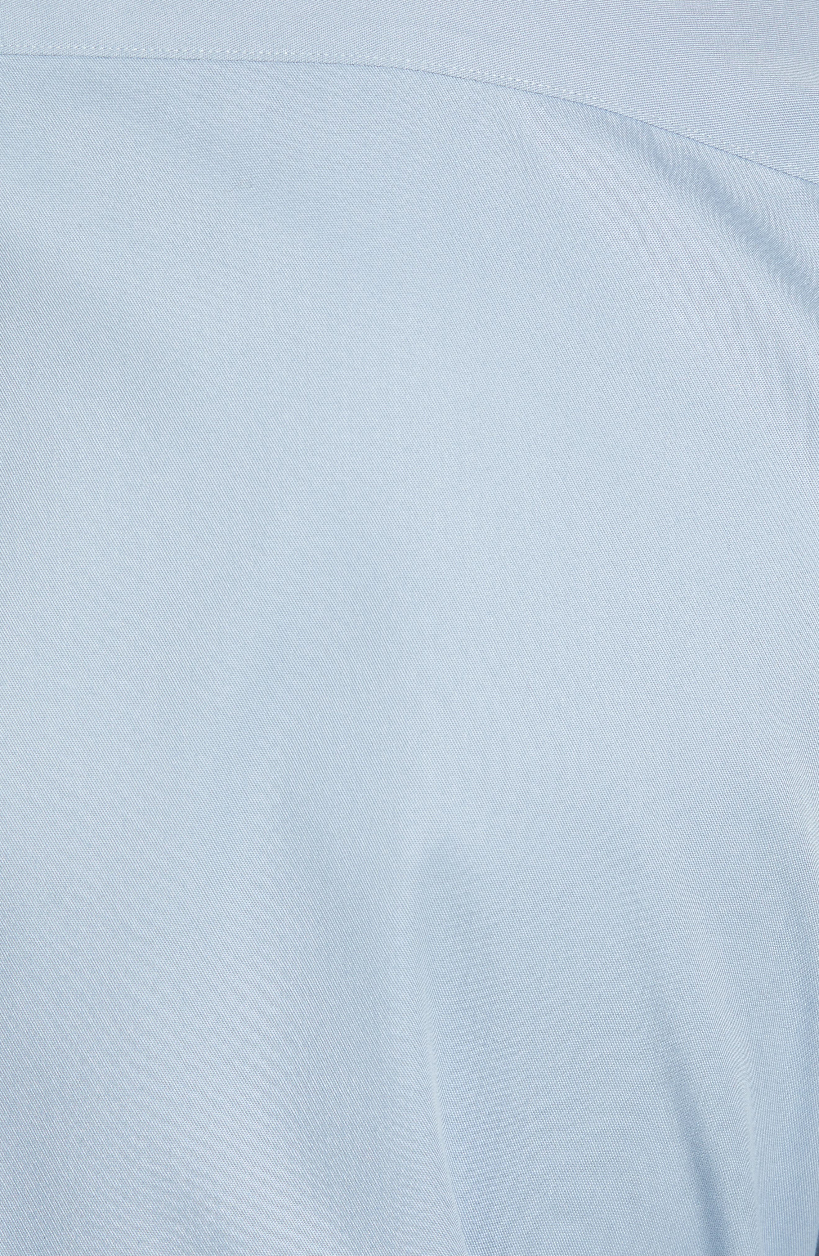 Smartcare<sup>™</sup> Traditional Fit Twill Boat Shirt,                             Alternate thumbnail 5, color,                             BLUE DRIZZLE
