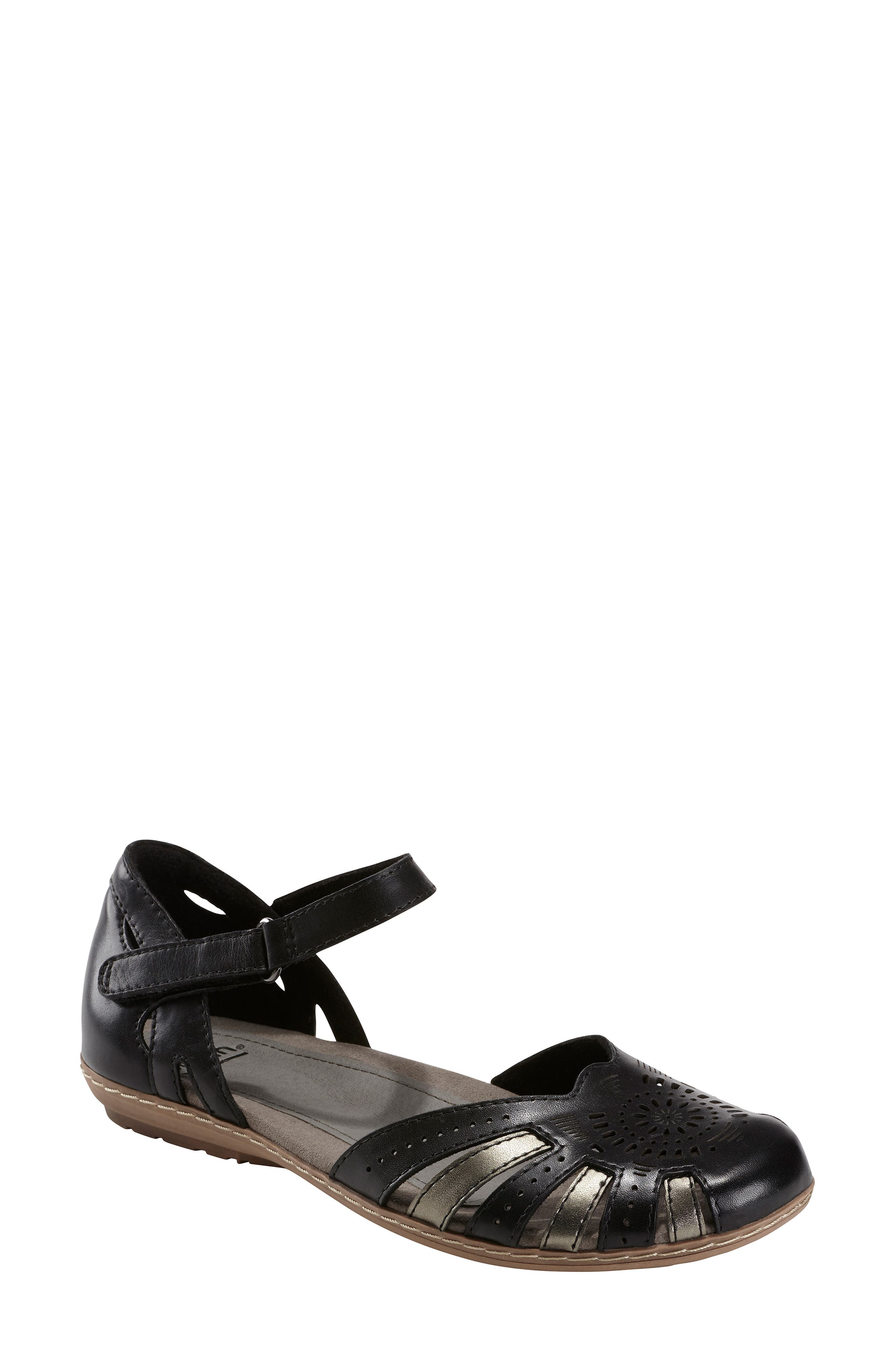 Cahoon Sandal, Main, color, BLACK LEATHER