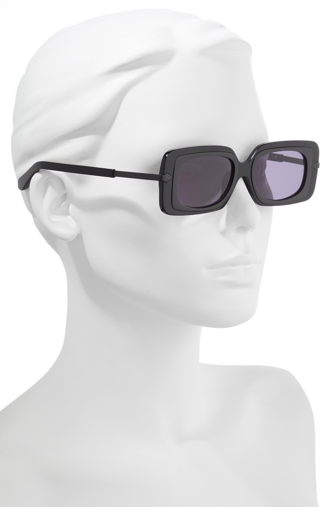 KAREN WALKER,                             Mr. Binnacle 51mm Sunglasses,                             Alternate thumbnail 2, color,                             001