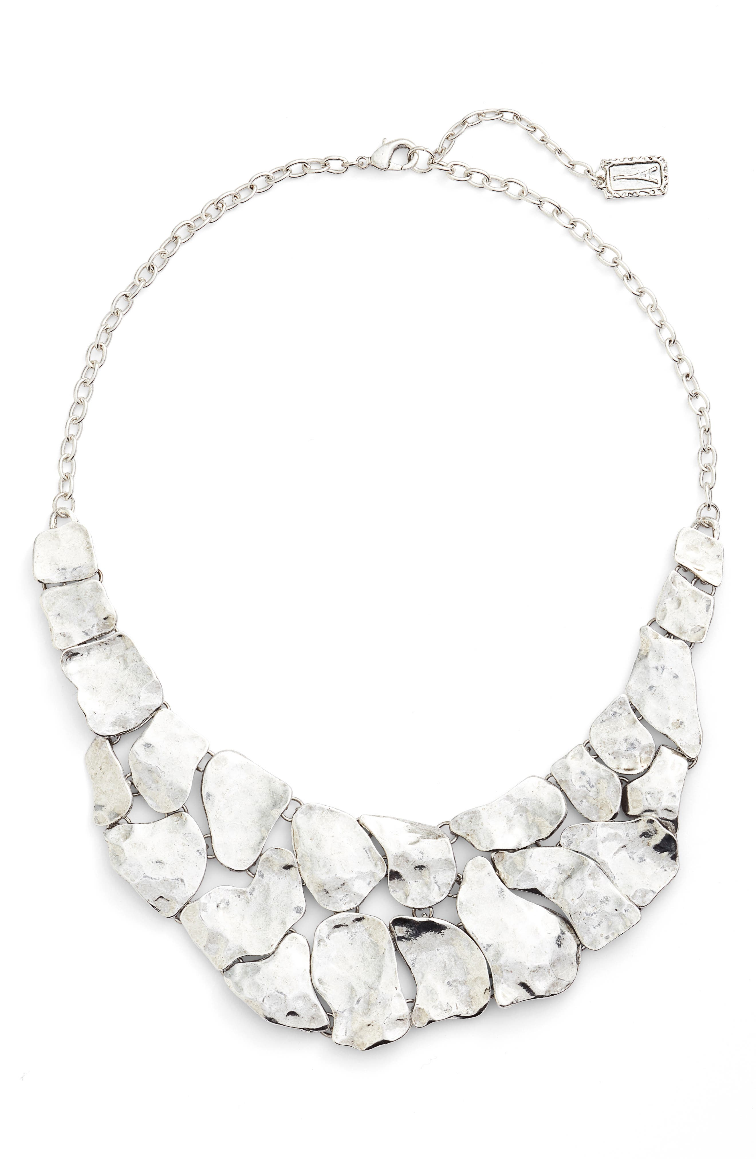 KARINE SULTAN Alice Statement Necklace, Main, color, SILVER