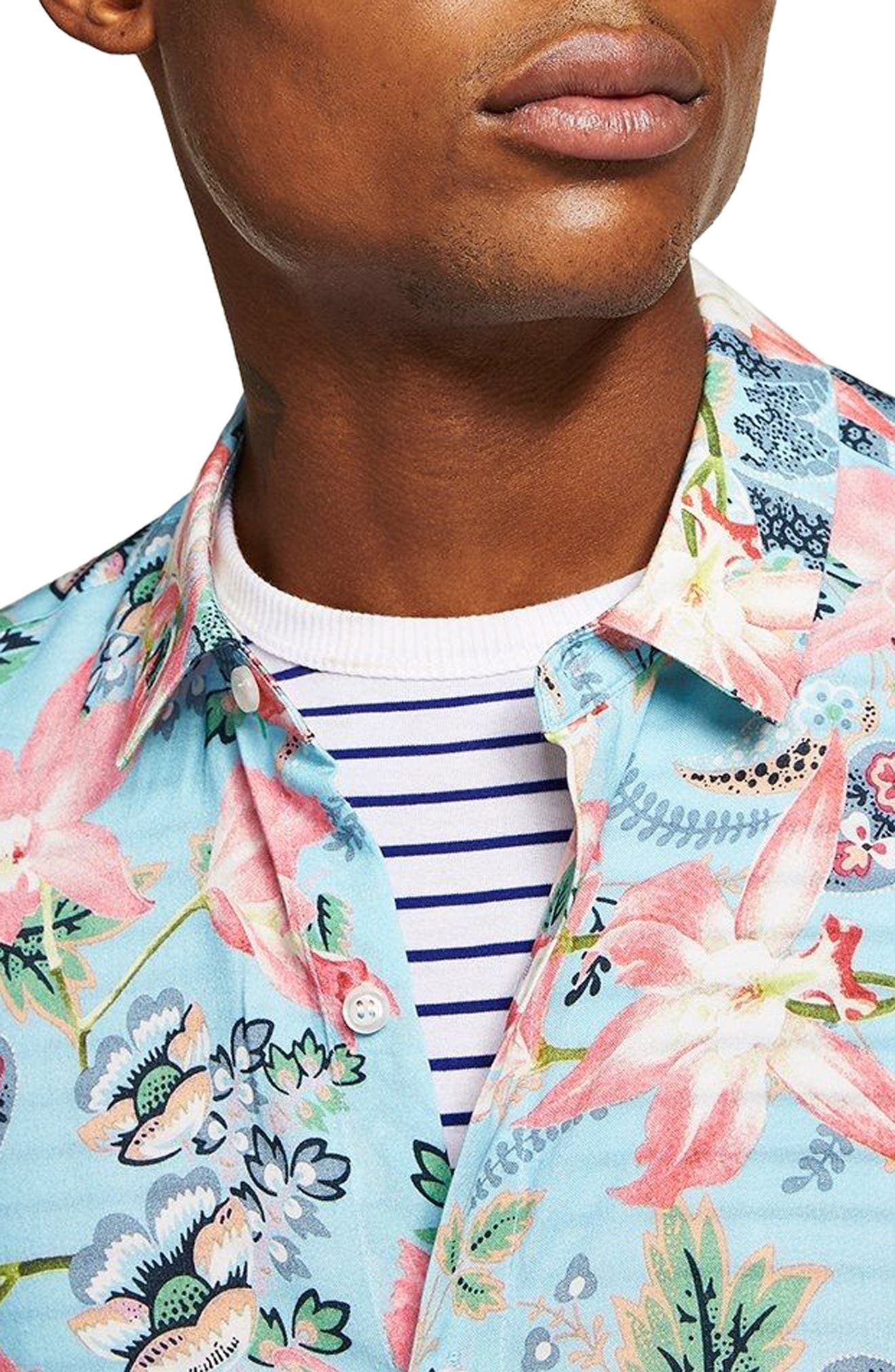 Floral Print Shirt,                         Main,                         color, 400